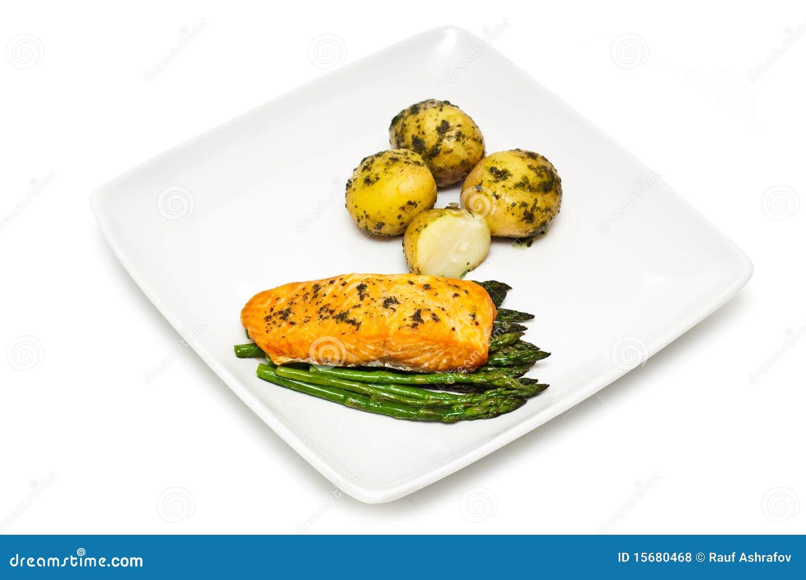 芦笋三文鱼