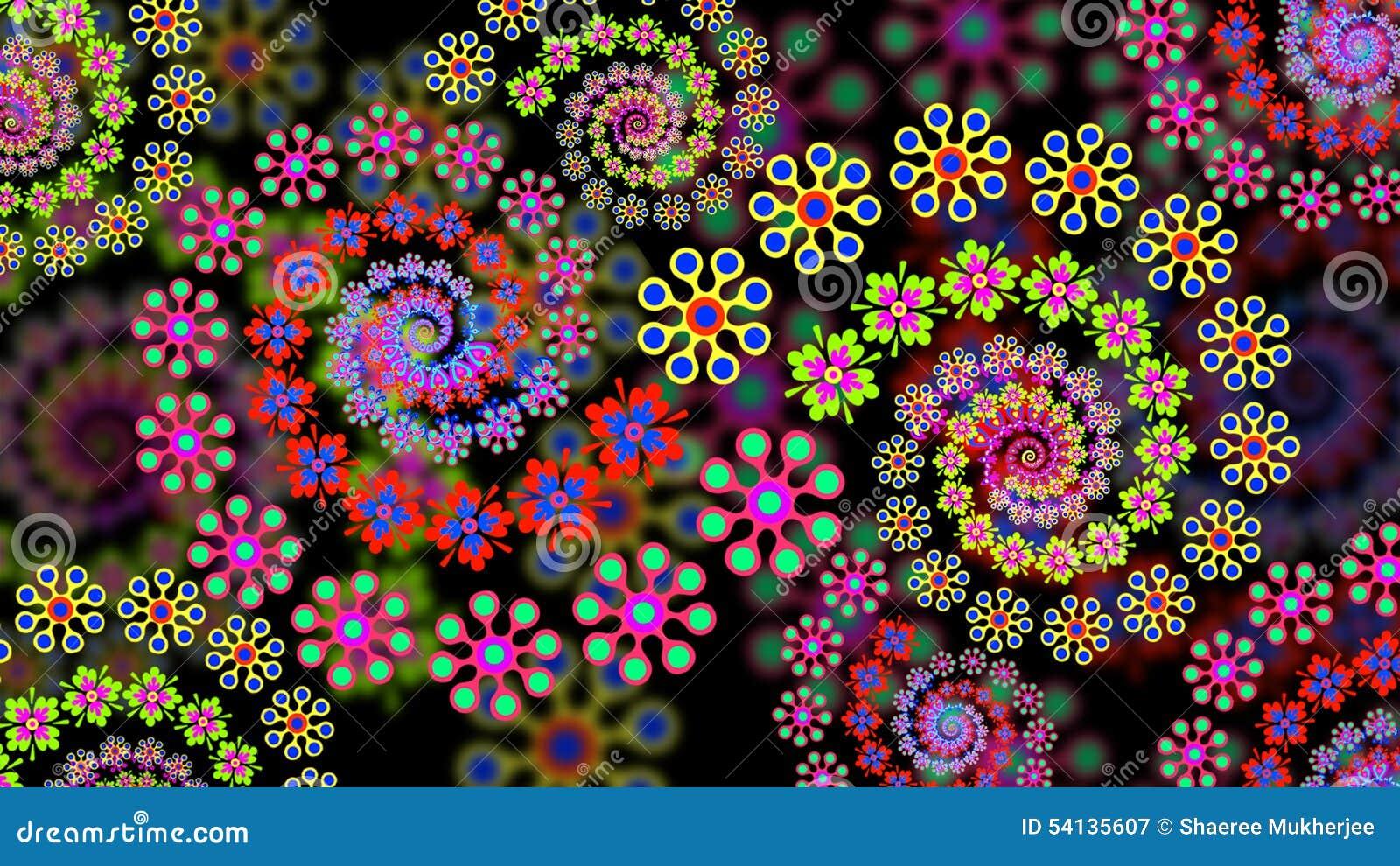 花卉分数维背景