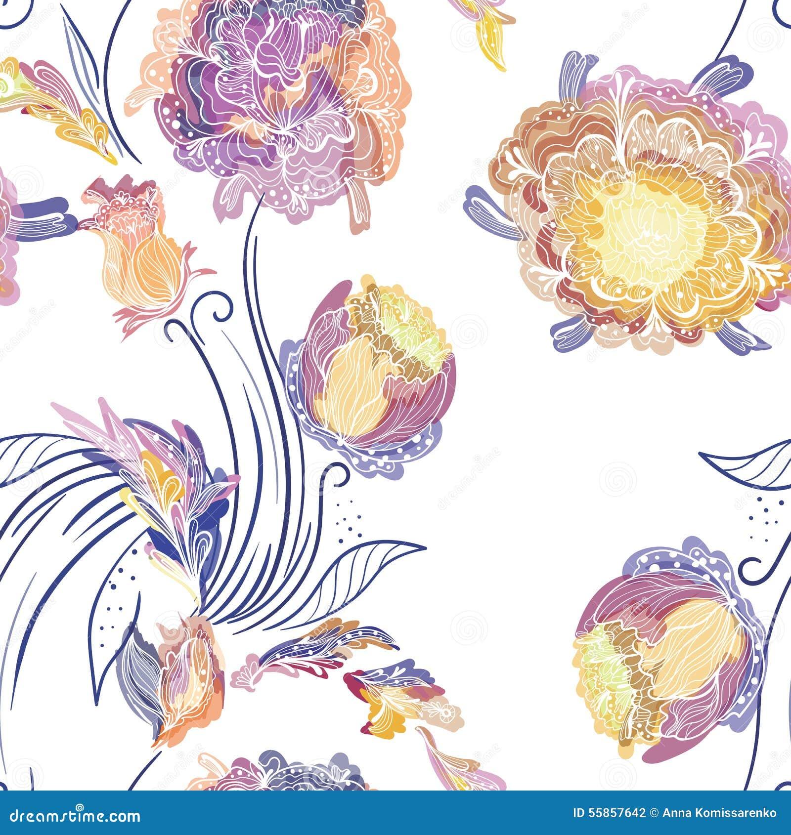 花卉日本模式样式