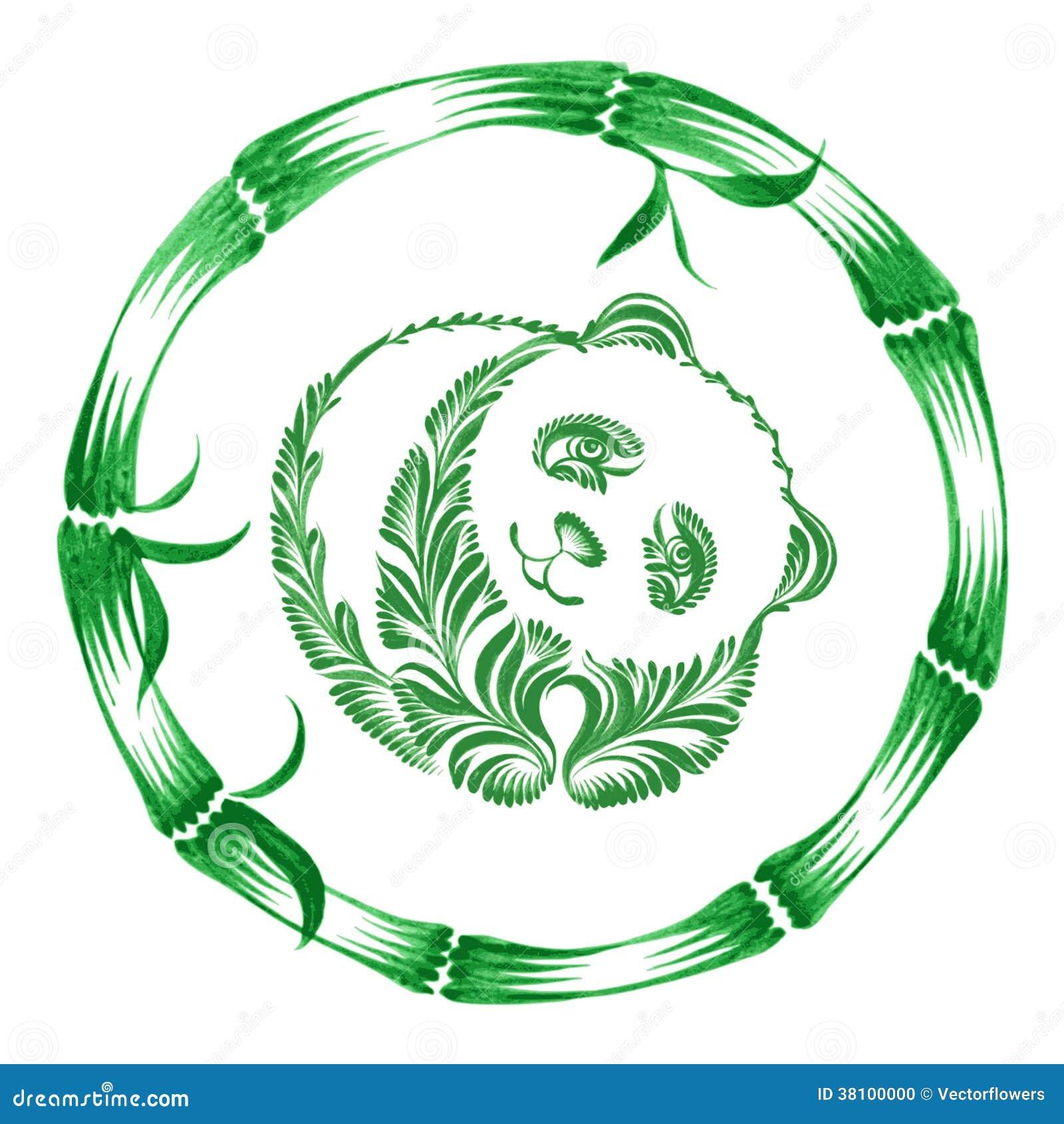 库存照片: 花卉装饰装饰品熊猫图片