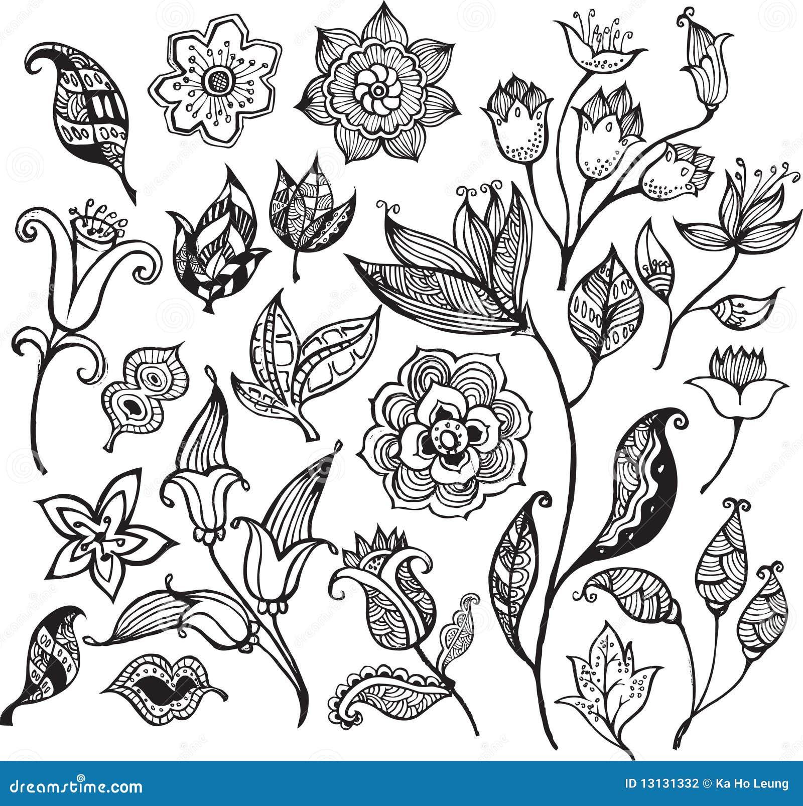 花卉2个抽象设计要素