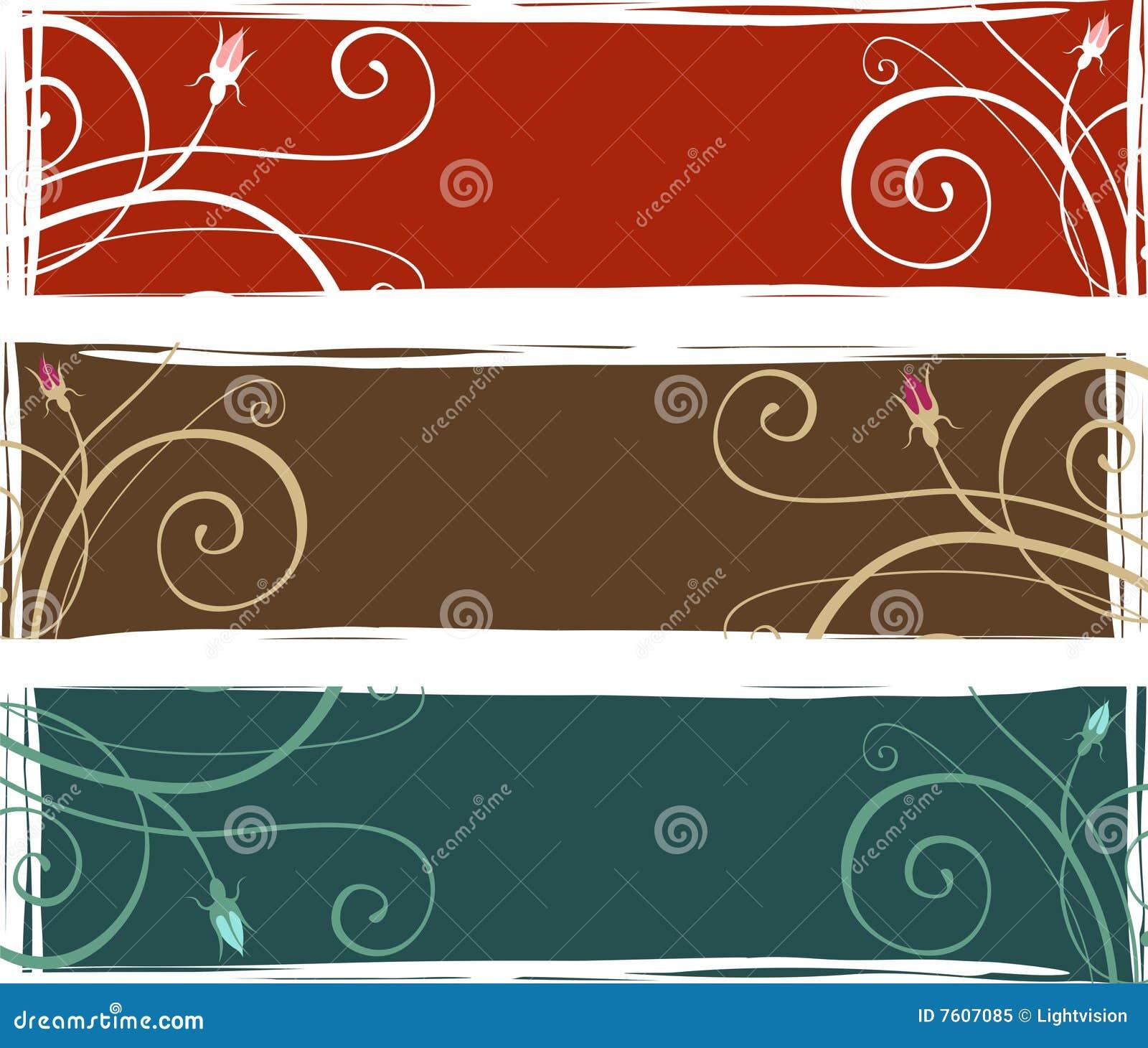 花卉3副横幅