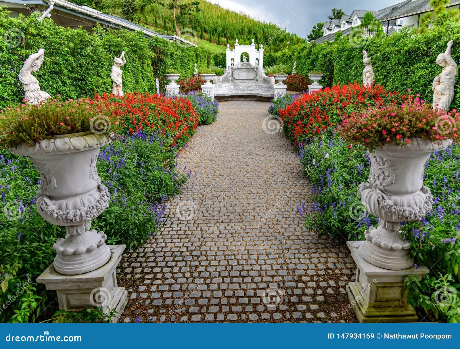 花园和罗马艺术在Khao Kho小山