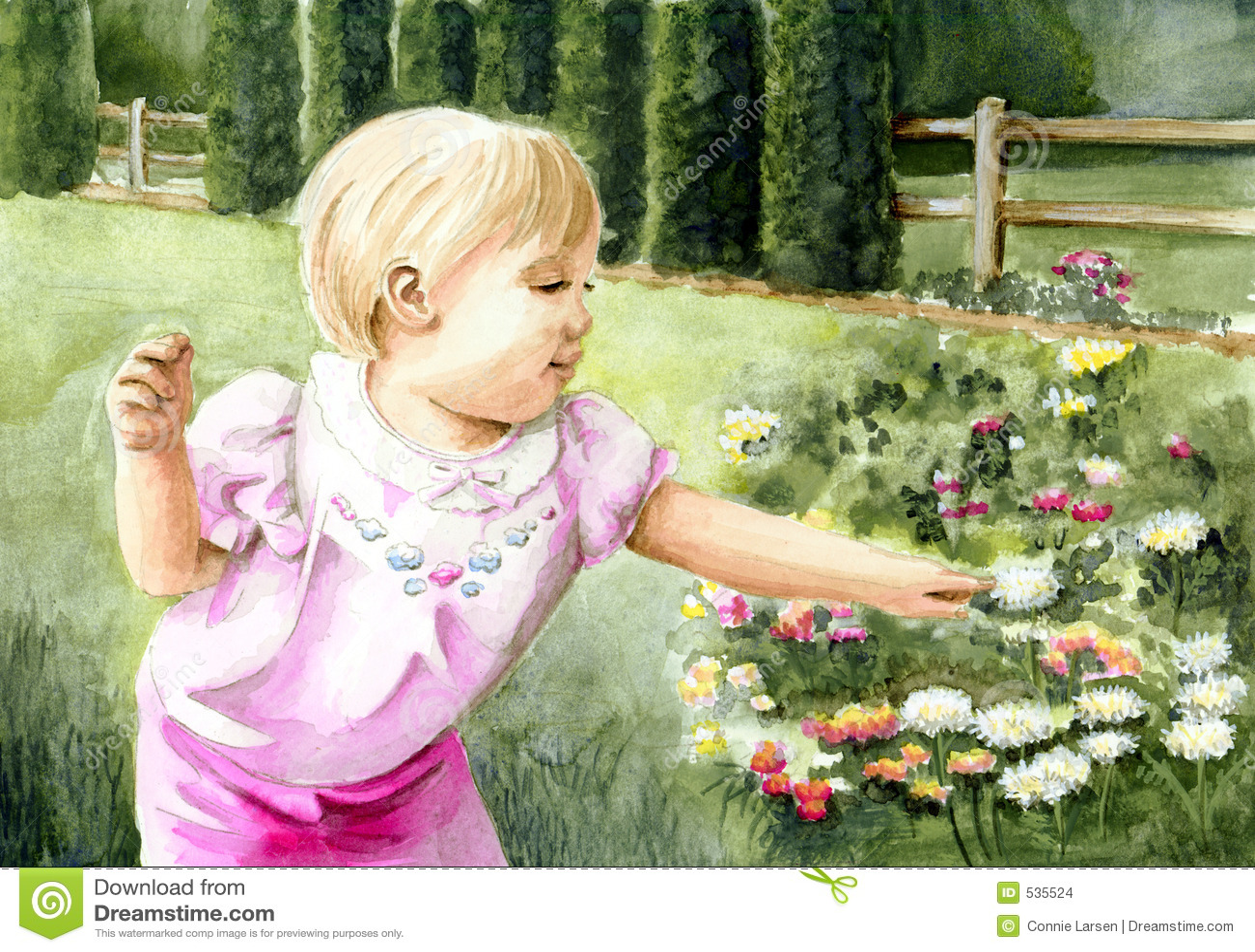 Download 花园女孩 库存例证. 插画 包括有 查找, 有吸引力的, 婴孩, beautifuler, 人们, 纵向, 孩子 - 535524