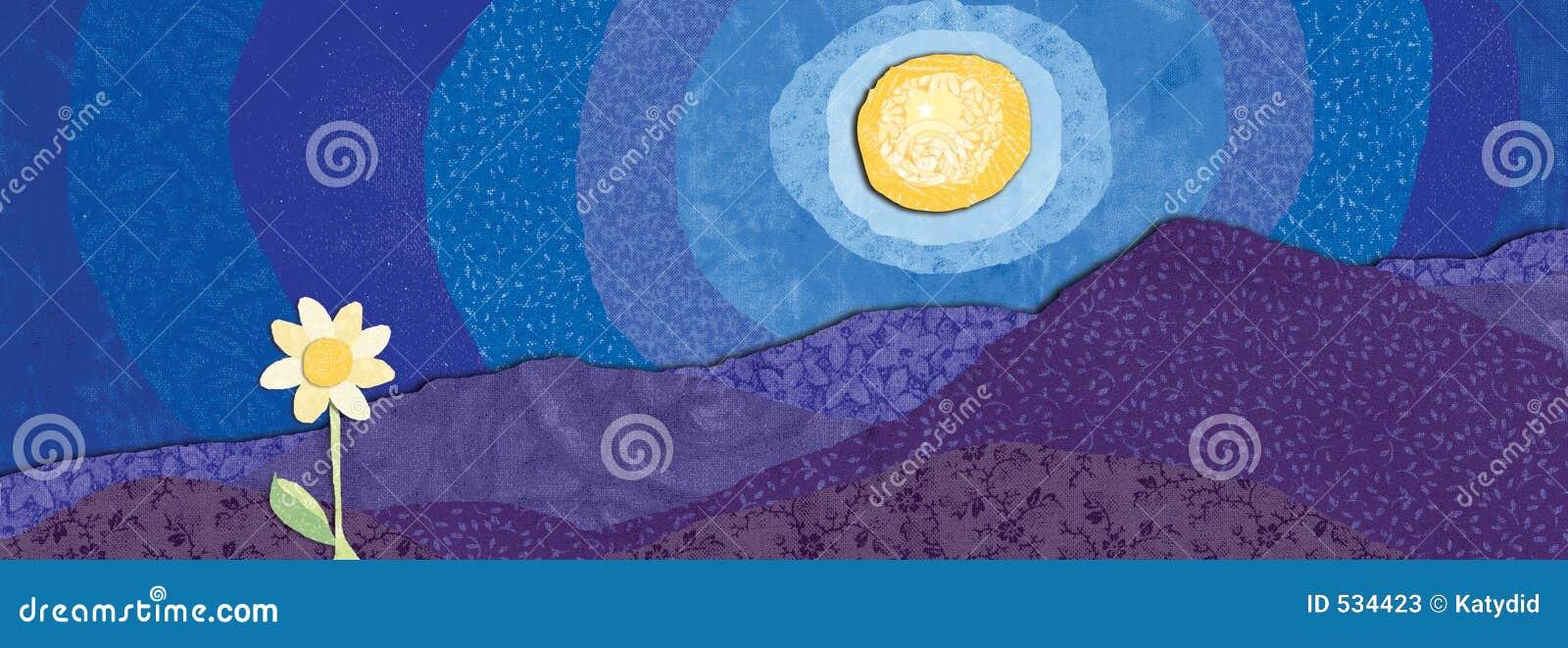 Download 花月亮 库存例证. 插画 包括有 增长, 织品, 晚上, 荔枝螺, 开花的, 横向, 镇定, 作梦, 嬉戏, 例证 - 534423