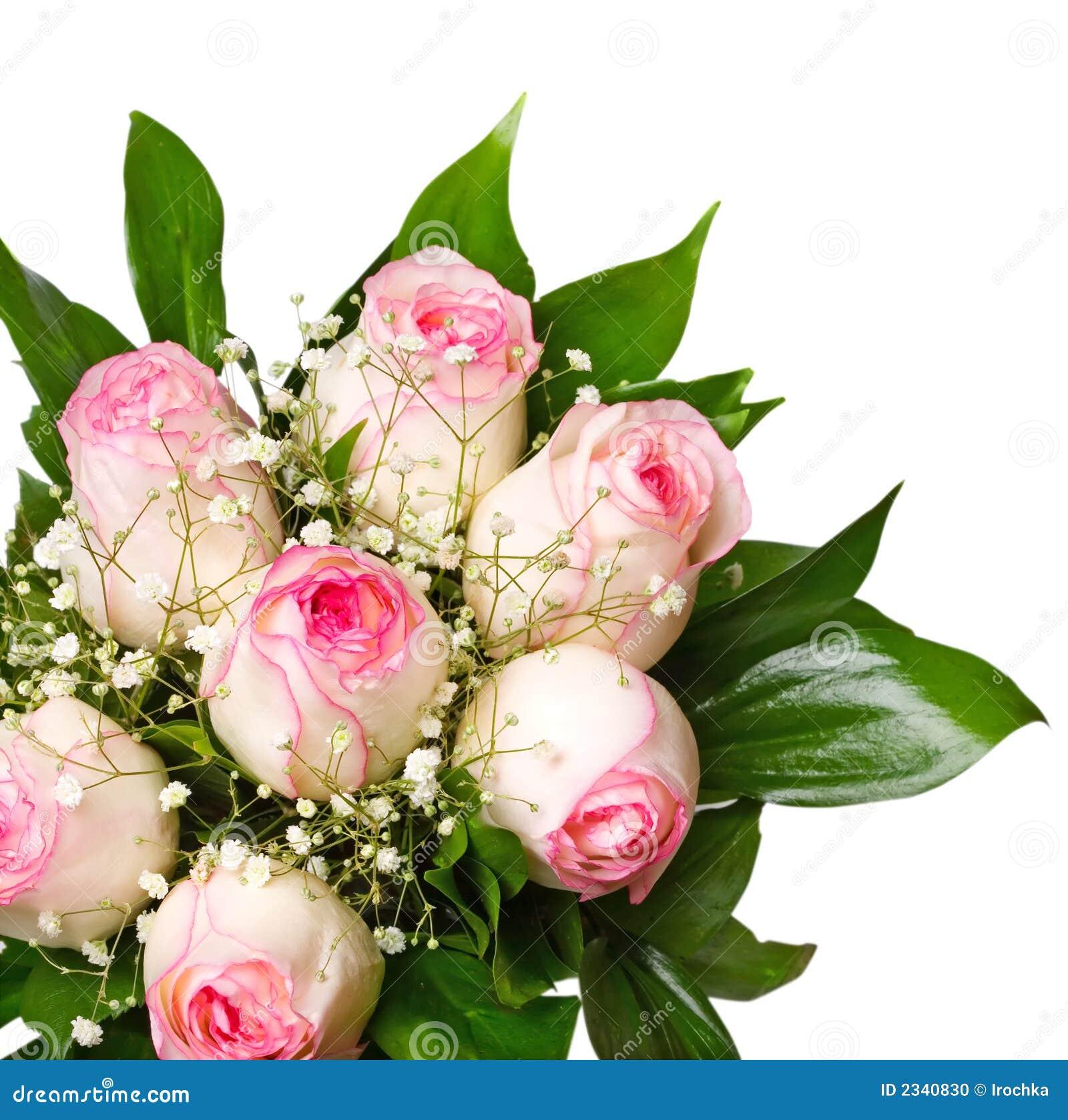花束粉红色上升了