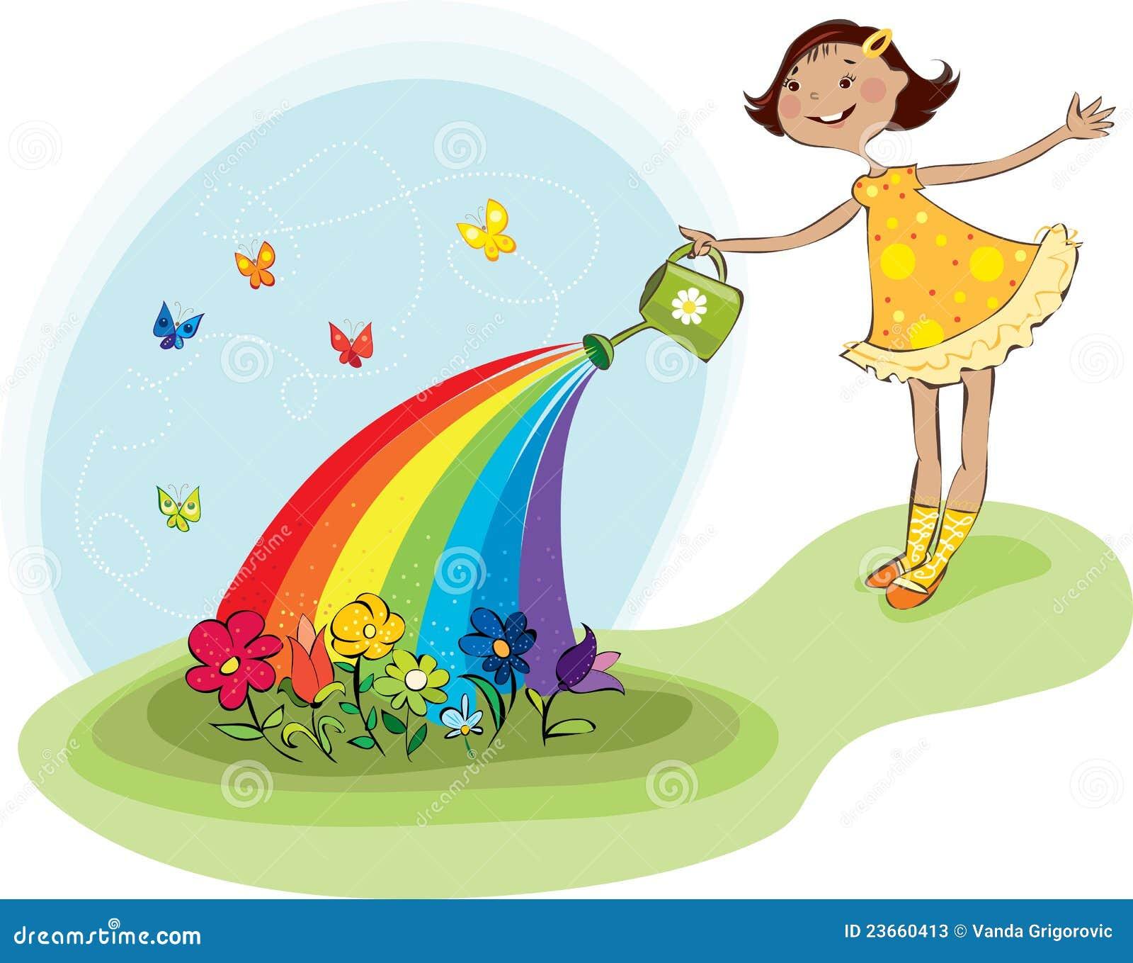Download 花浇灌 向量例证. 插画 包括有 花匠, 新鲜, 女孩, 倾吐, 夏天, 花卉, 户外, 绿色, 从事园艺 - 23660413