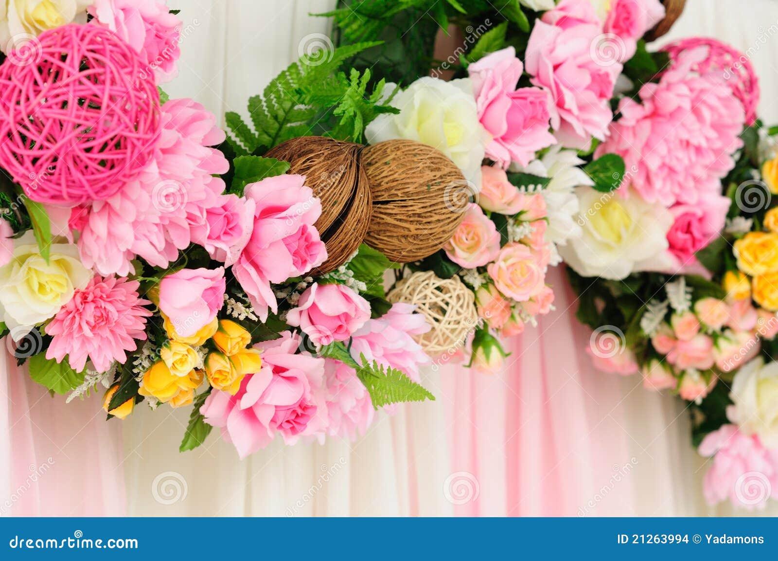 背景装饰织品花线路粉红色婚礼.