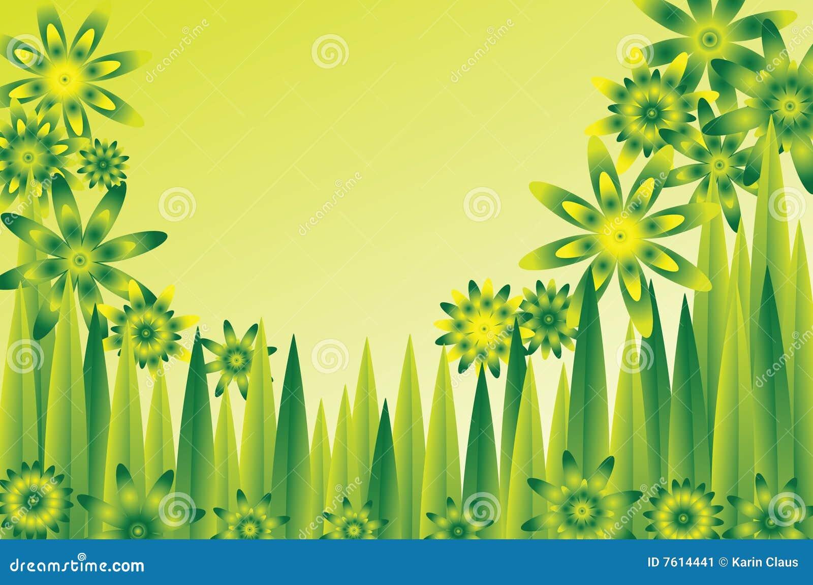 花绿色草甸