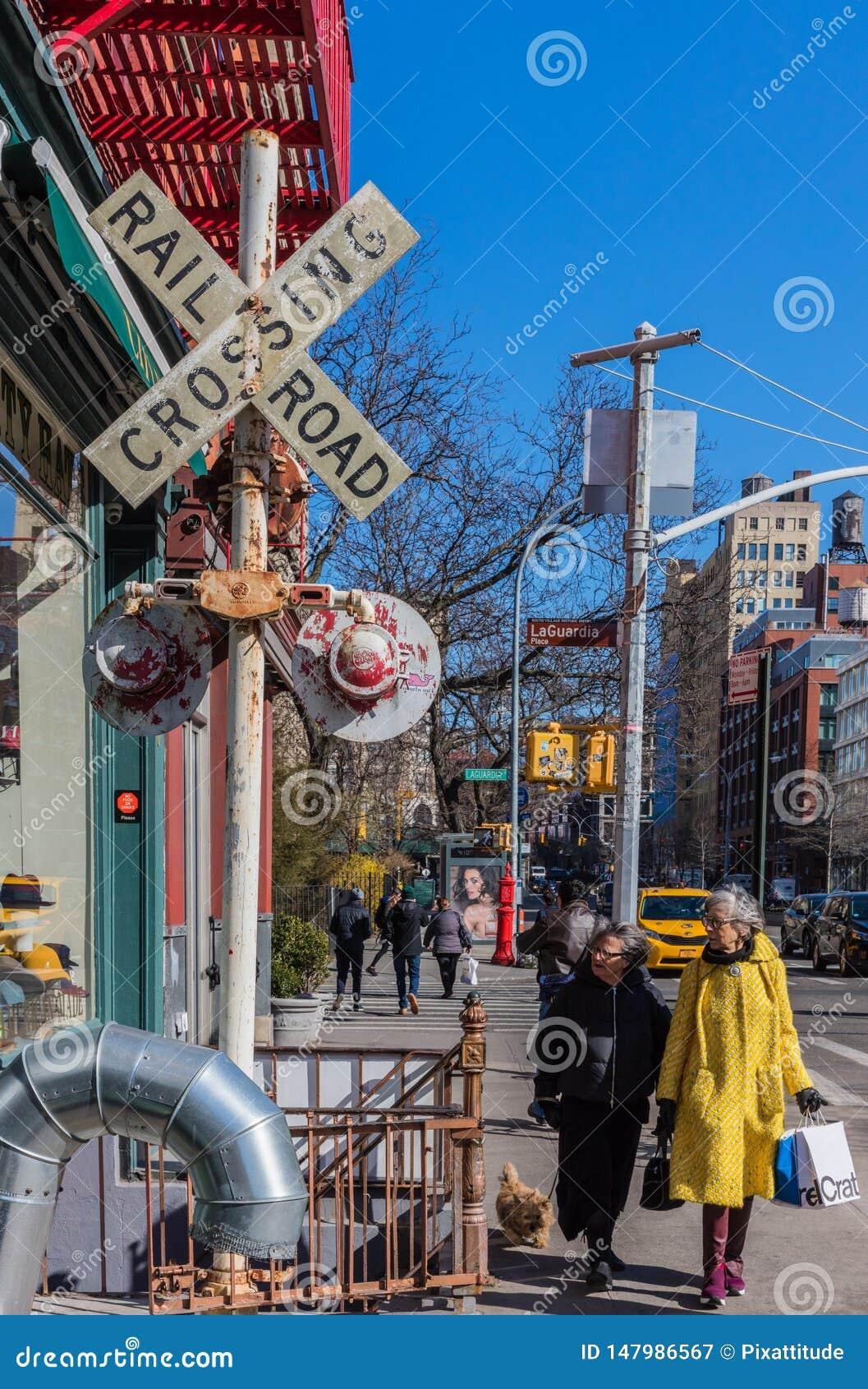 苏豪区街道曼哈顿地标纽约美国