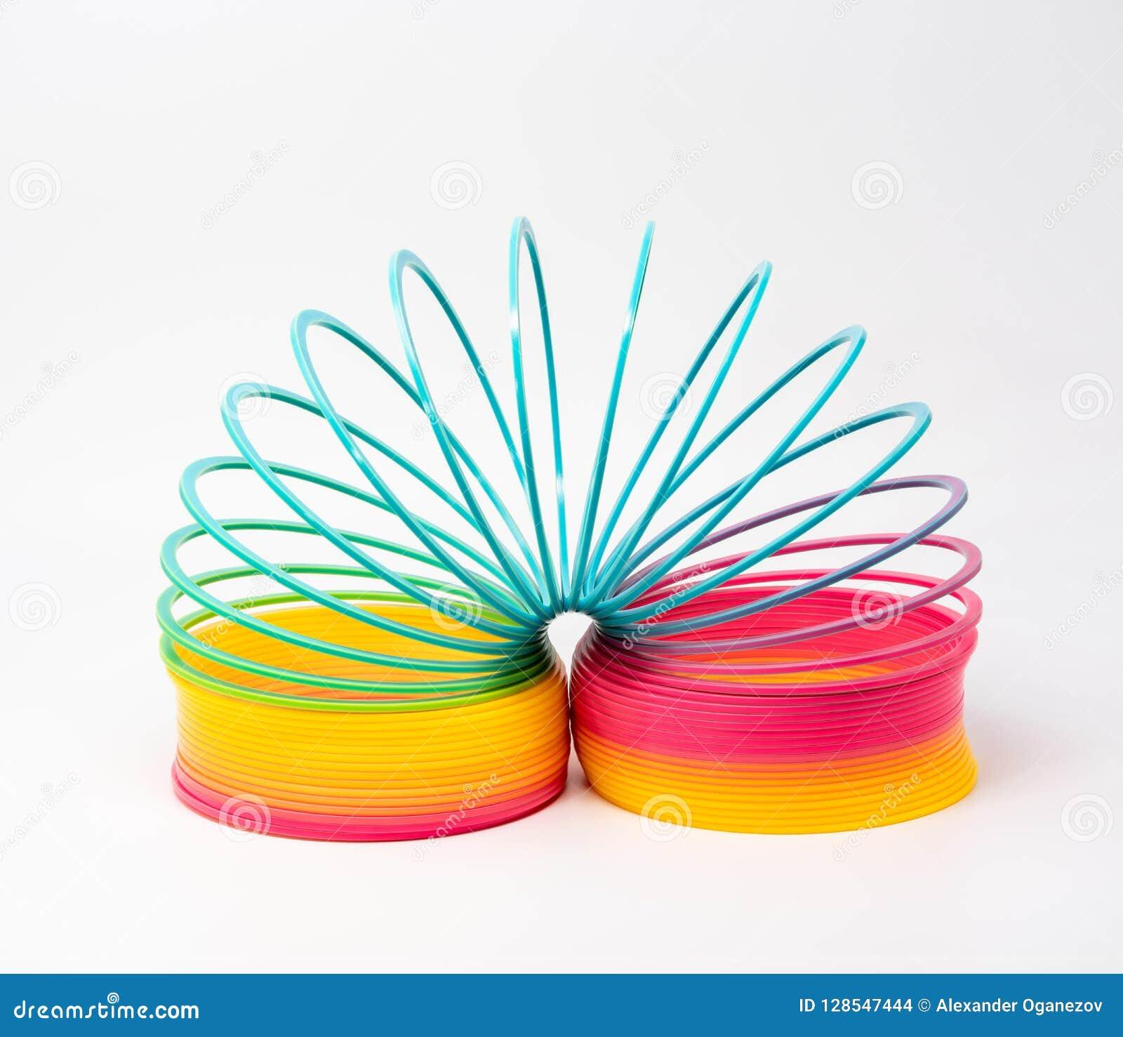 苗条-彩虹色的塑料玩具