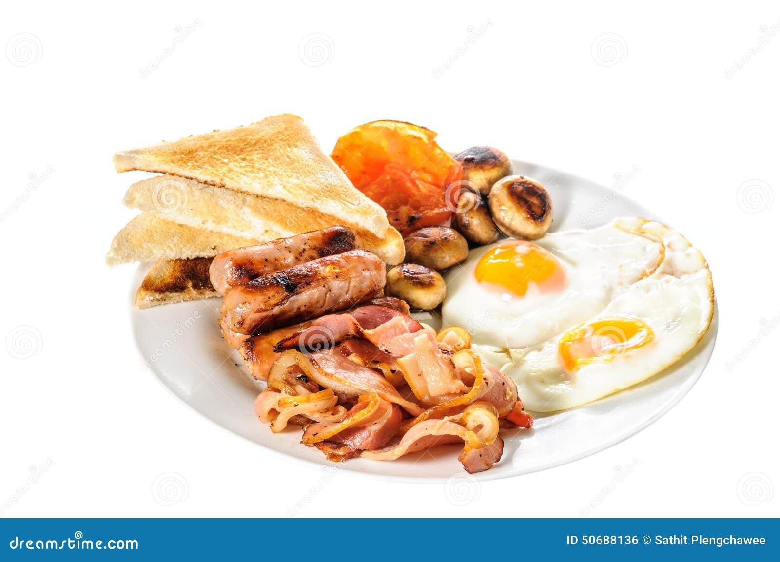 Download 英国大早餐 库存照片. 图片 包括有 猪肉, 烹调, 制动手, 油煎, 油炸物, 蘑菇, 袋子, 蕃茄, 空白 - 50688136