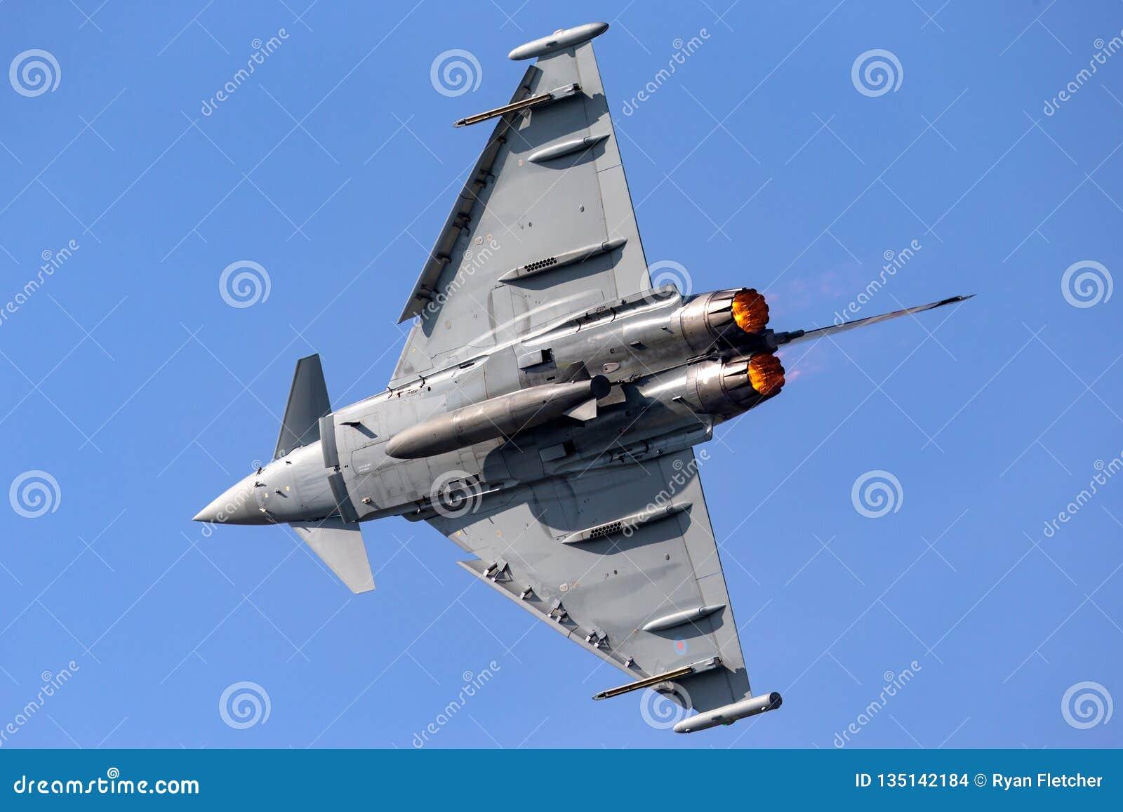 英国皇家空军皇家空军Eurofighter EF-2000台风从没有的FGR4 ZK343 29R分谴舰队根据在皇家空军Coningsby