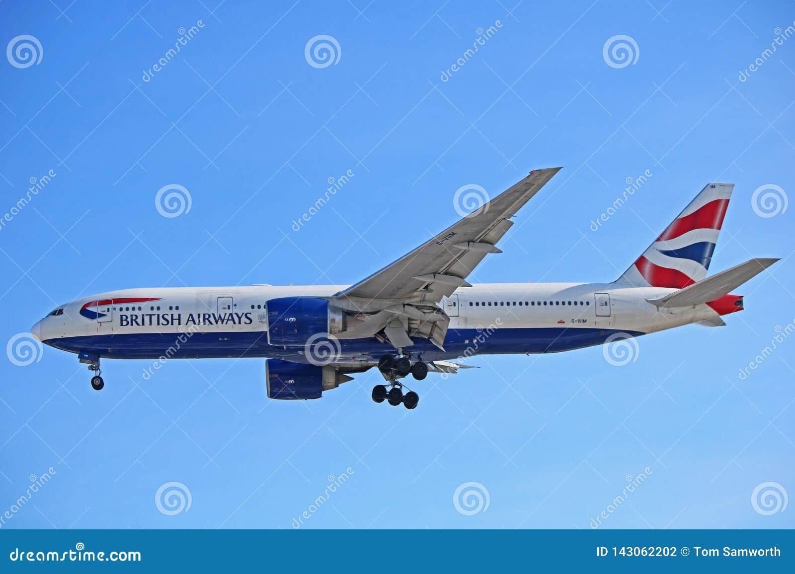 英国航空波音777-200ER侧视图
