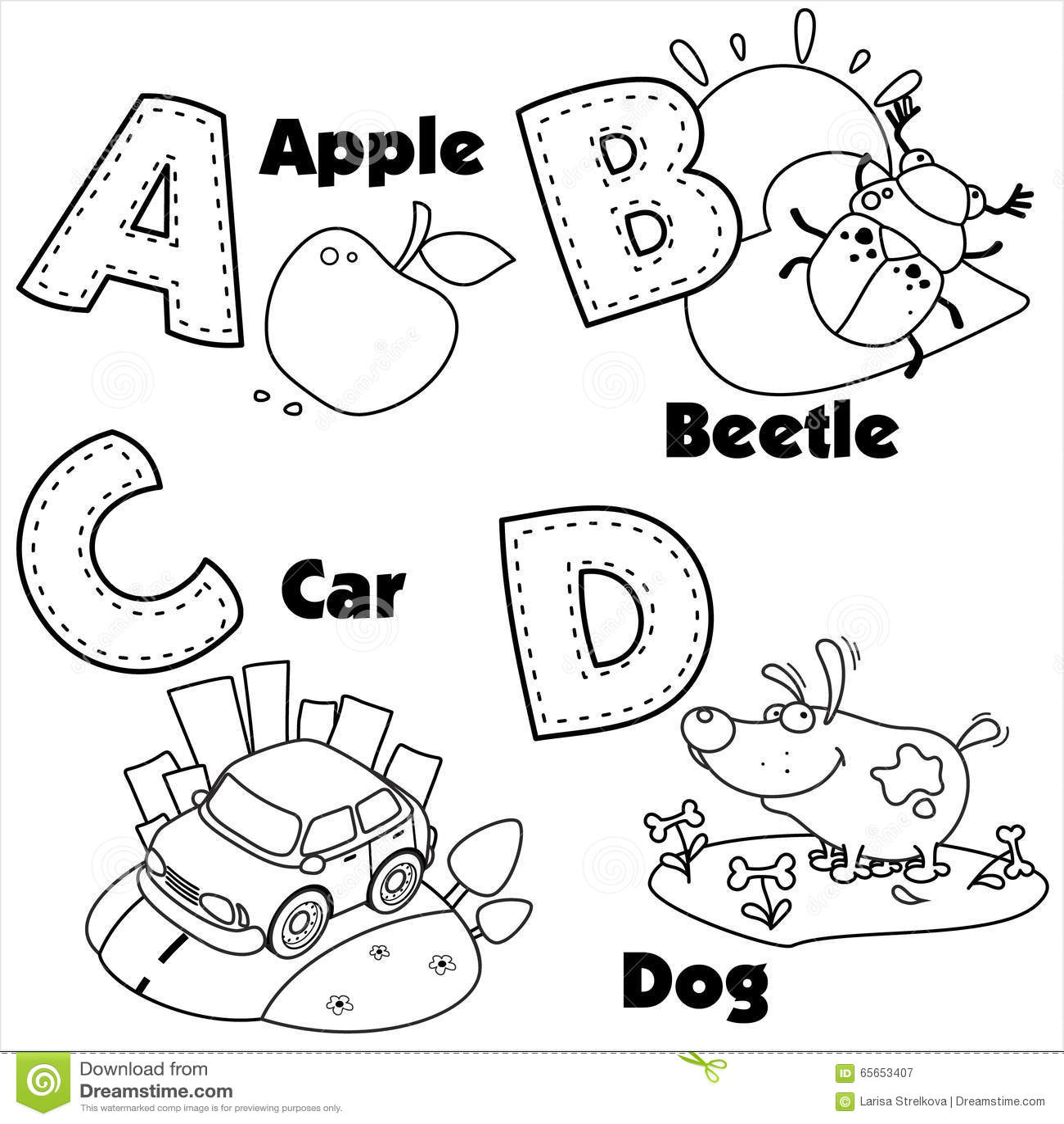 和岳�y/d�/c_英语字母表的着色和在他们的信件a,b,c和d和图片.