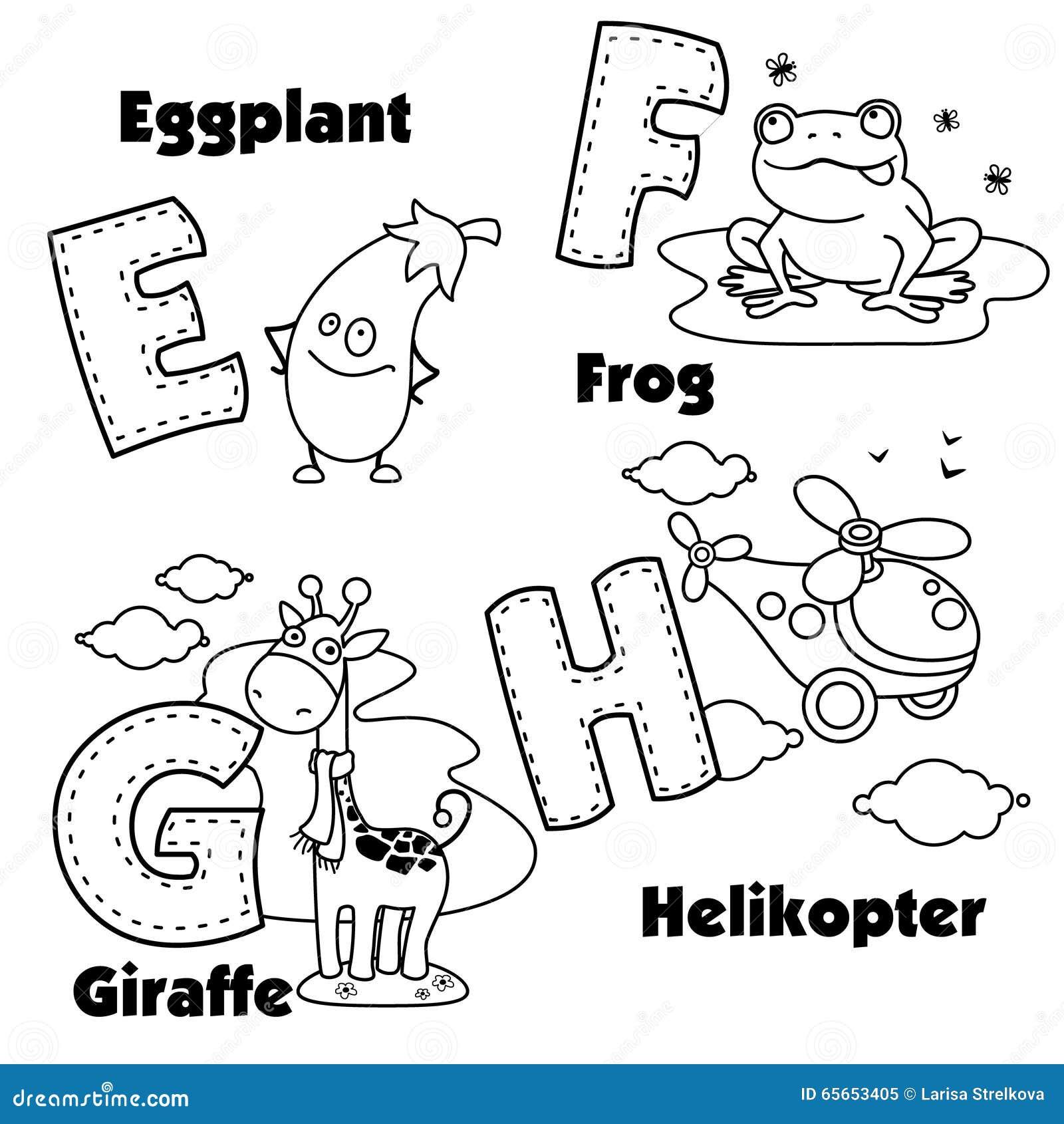?9?h?.??.$??*9f_英语字母表的着色和在他们的信件e,f,g和h和图片.
