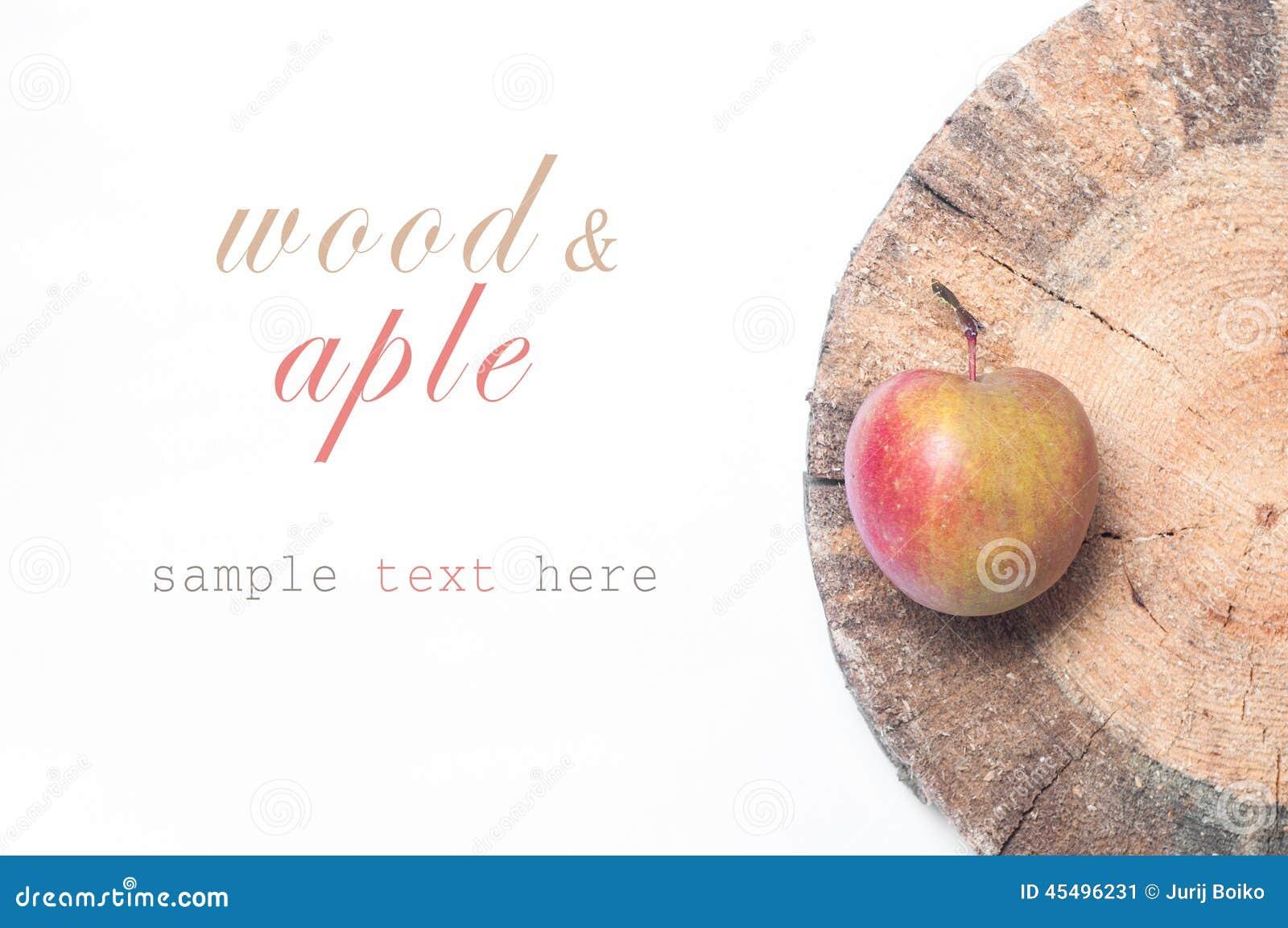 苹果把红色木装箱 Copyspace