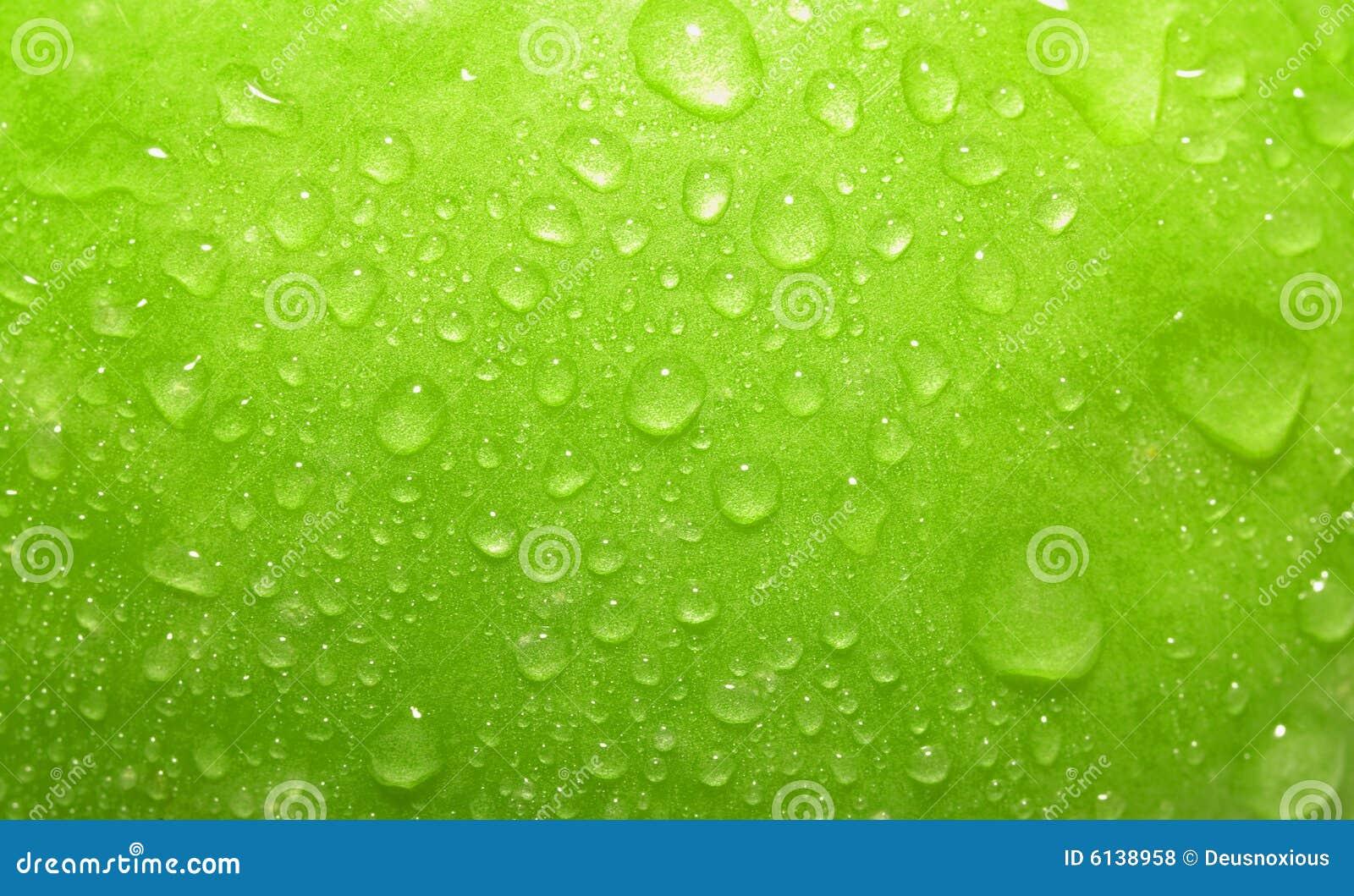 苹果接近的绿色
