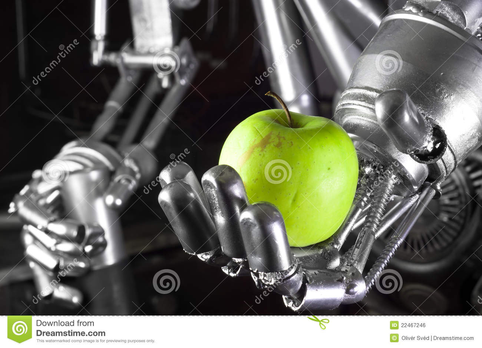 苹果绿的现有量藏品机器人