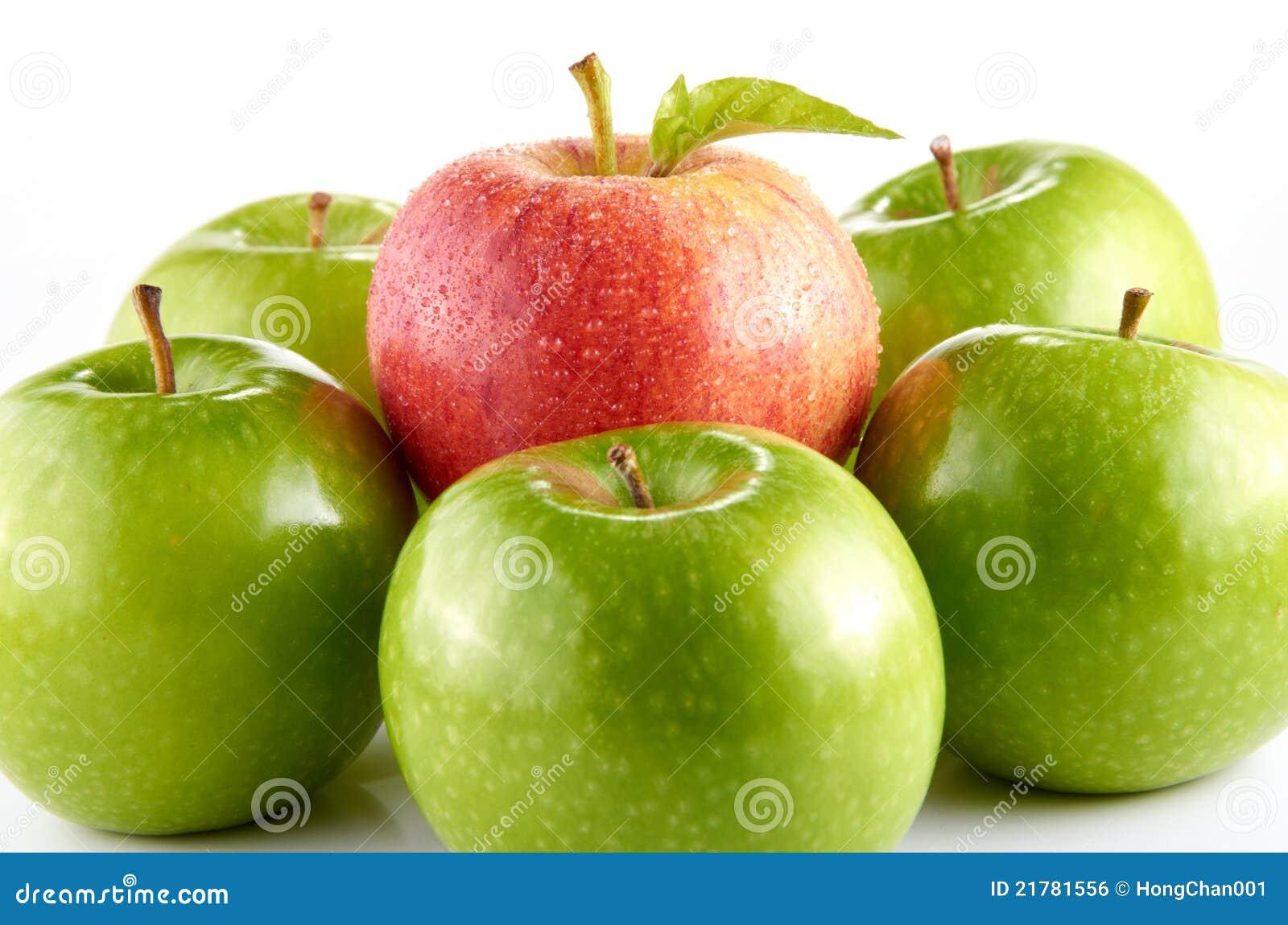 苹果绿的红色