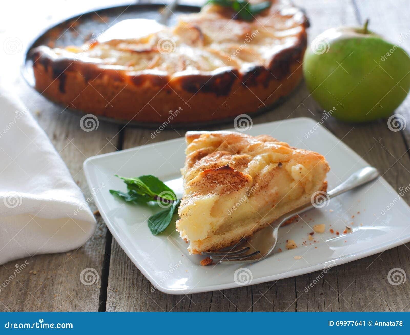 苹果蛋糕报道了果冻片式