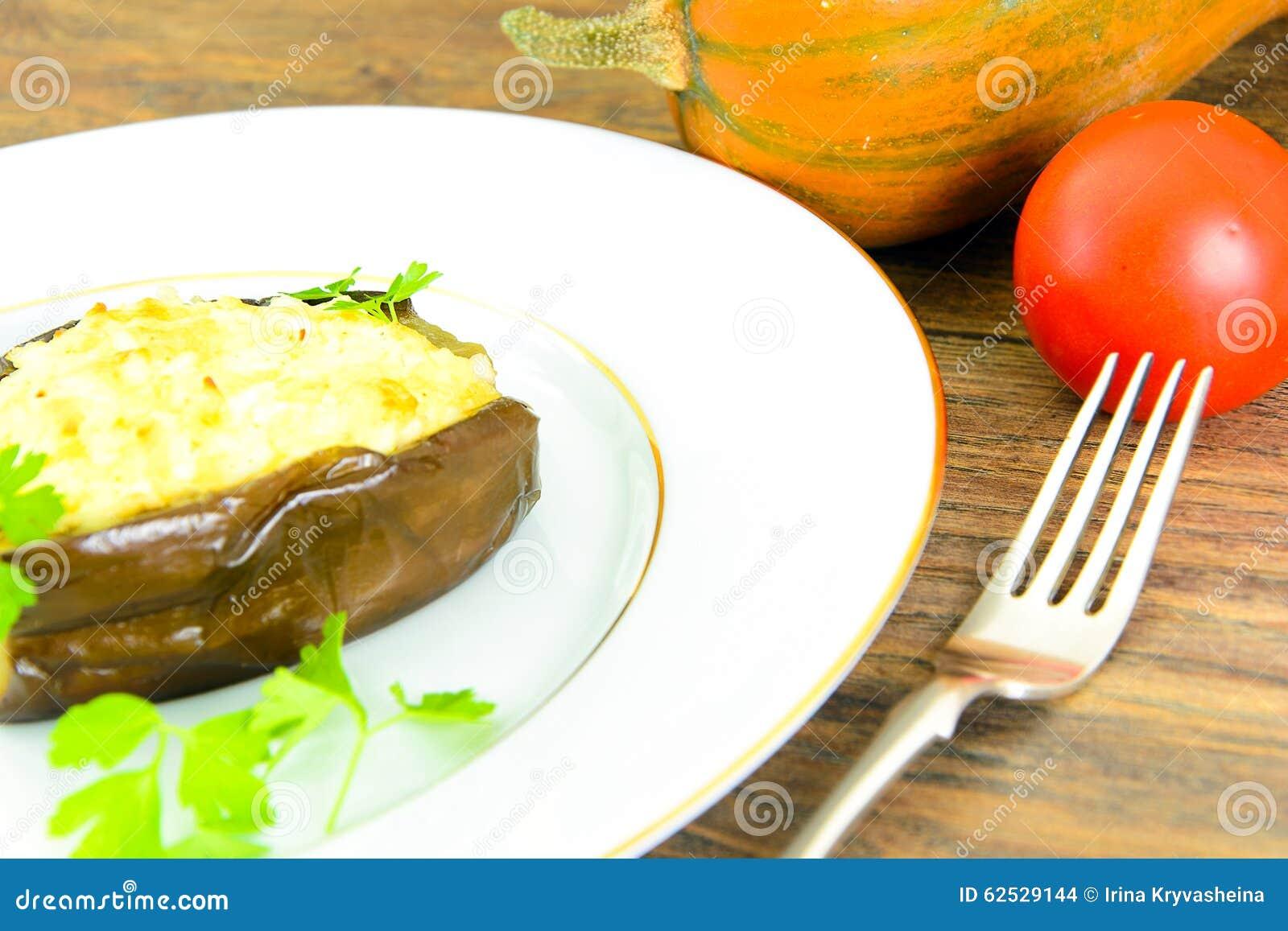 茄子充塞与和蕃茄