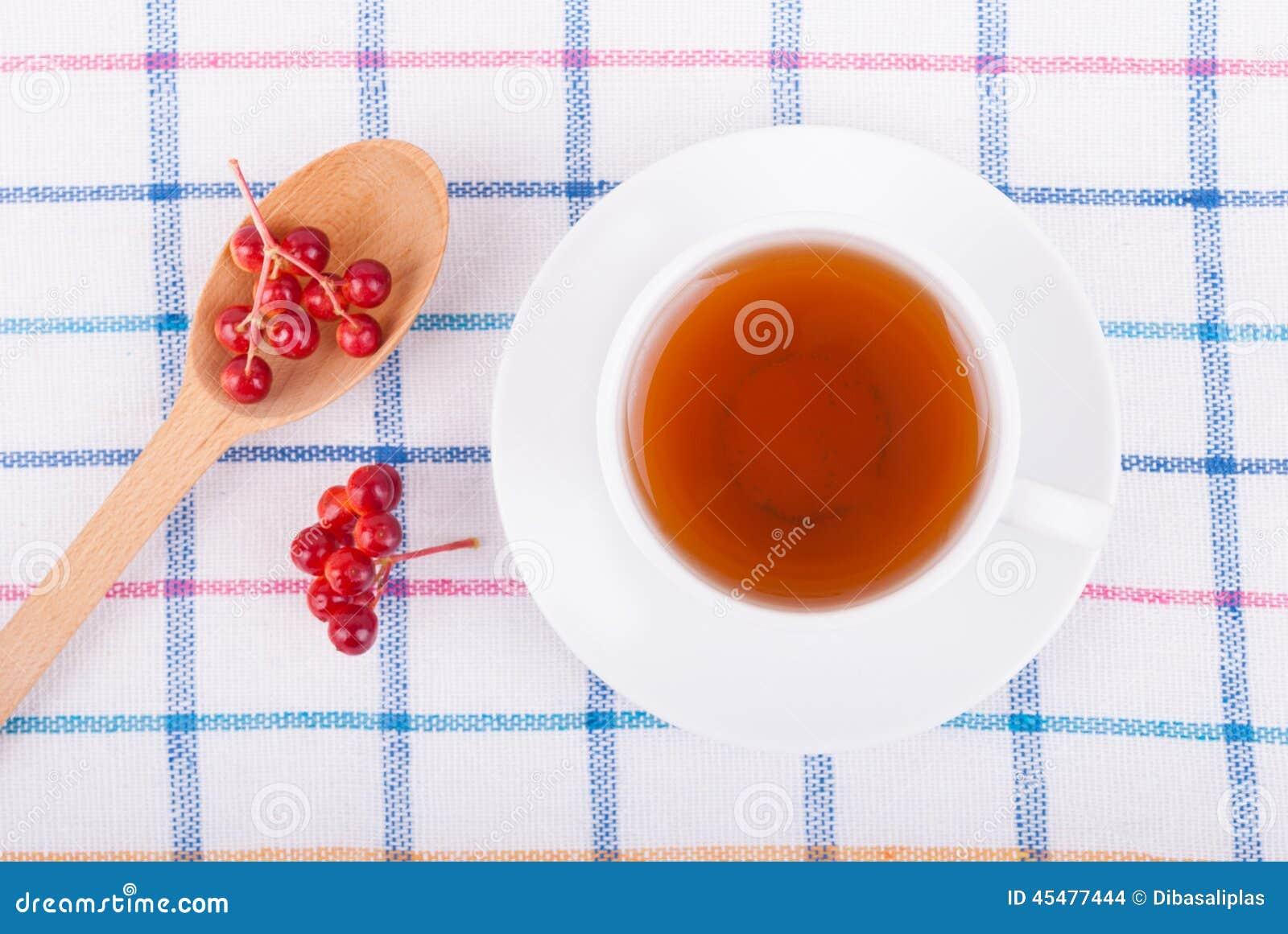 茶用红色荚莲属的植物莓果