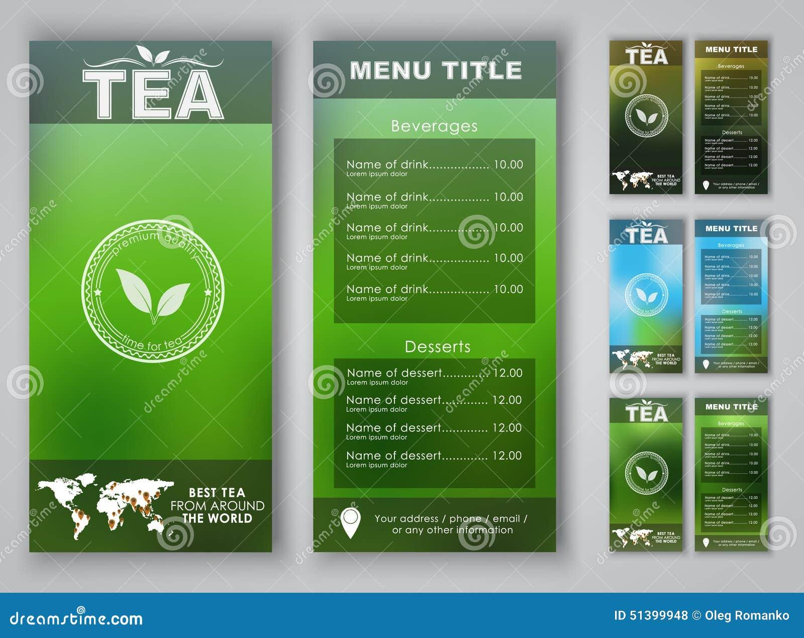 茶菜单的设计有被弄脏的背景