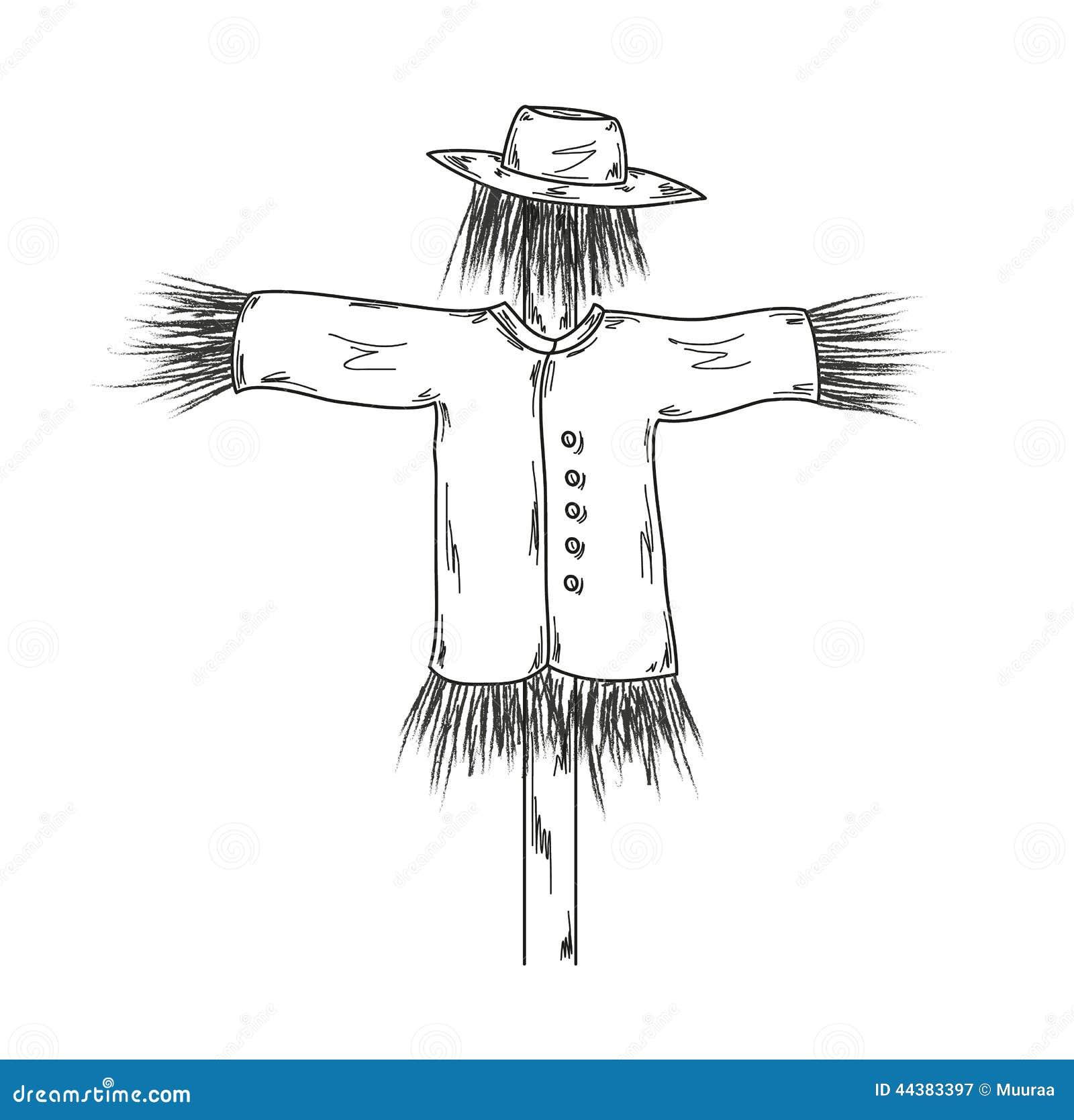 稻草人的剪影 向量例证 插画 包括有 巢穴 怪物 逗人喜爱 表面 问题的 装饰 困扰 本质