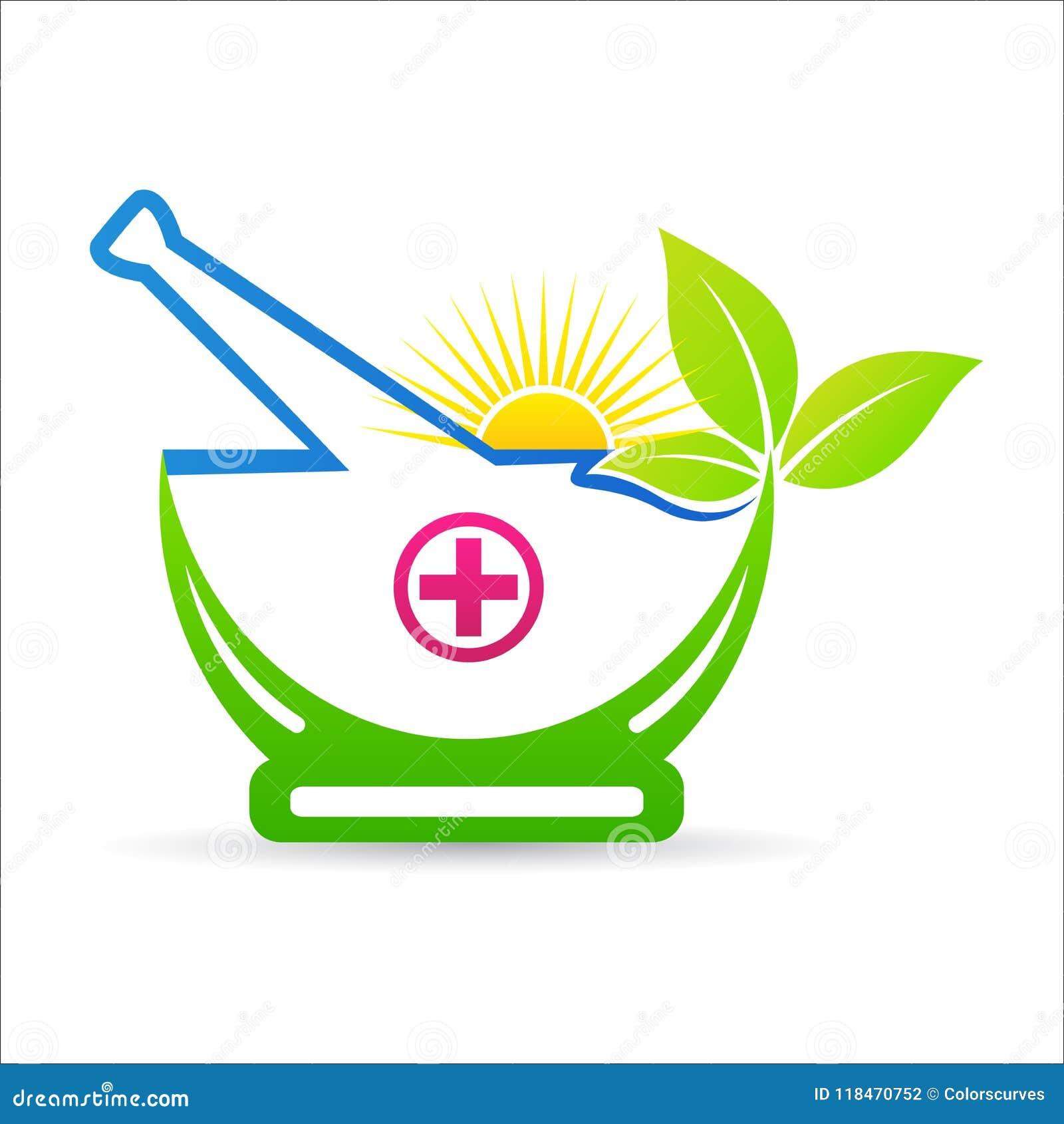 草本灰浆和杵ayurveda疗法关心商标