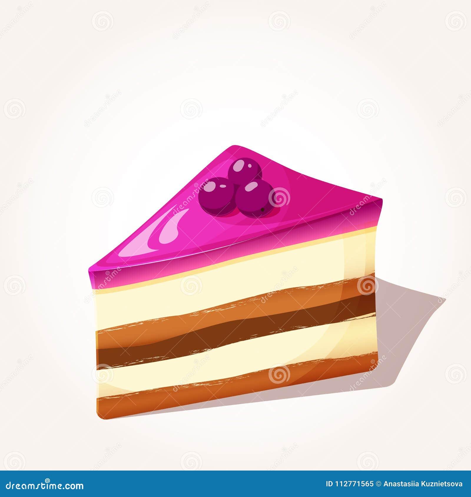 莓果五颜六色的鲜美片断结块与在动画片样式的果冻被隔绝的在白色背景 也corel凹道例证向量