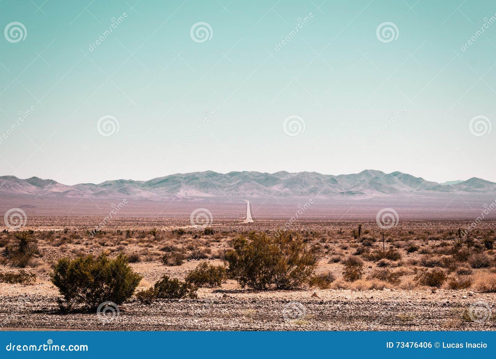 莫哈维沙漠近的路线66在加利福尼亚
