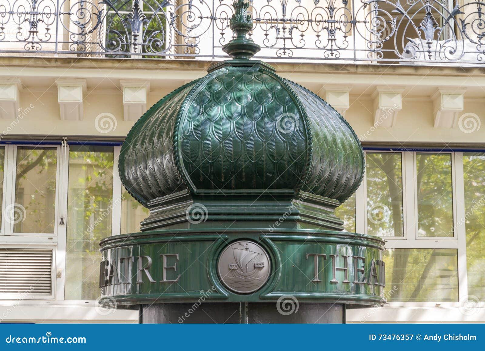 莫妮斯专栏上面在巴黎,法国