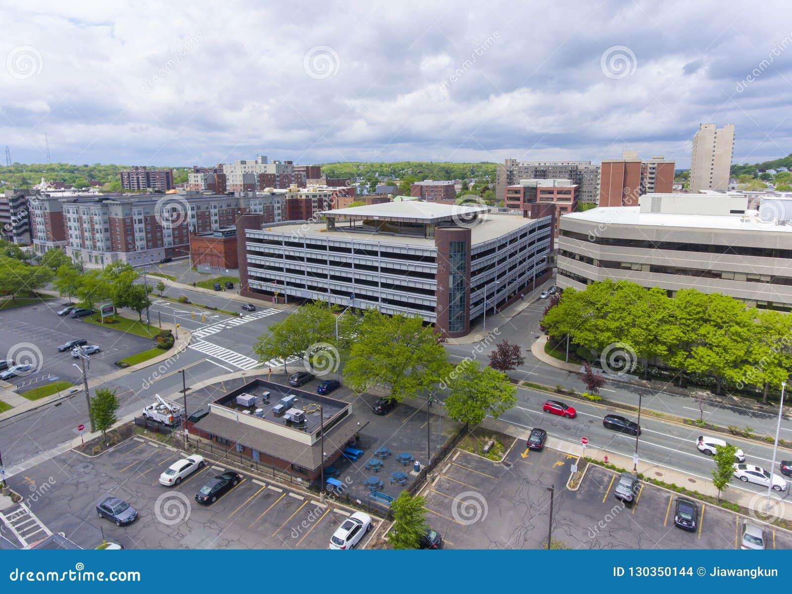 莫尔登市鸟瞰图,马萨诸塞,美国