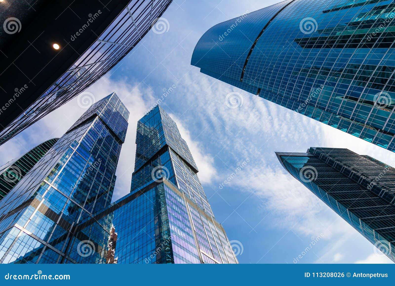 莫斯科市-摩天大楼莫斯科国际商业中心看法