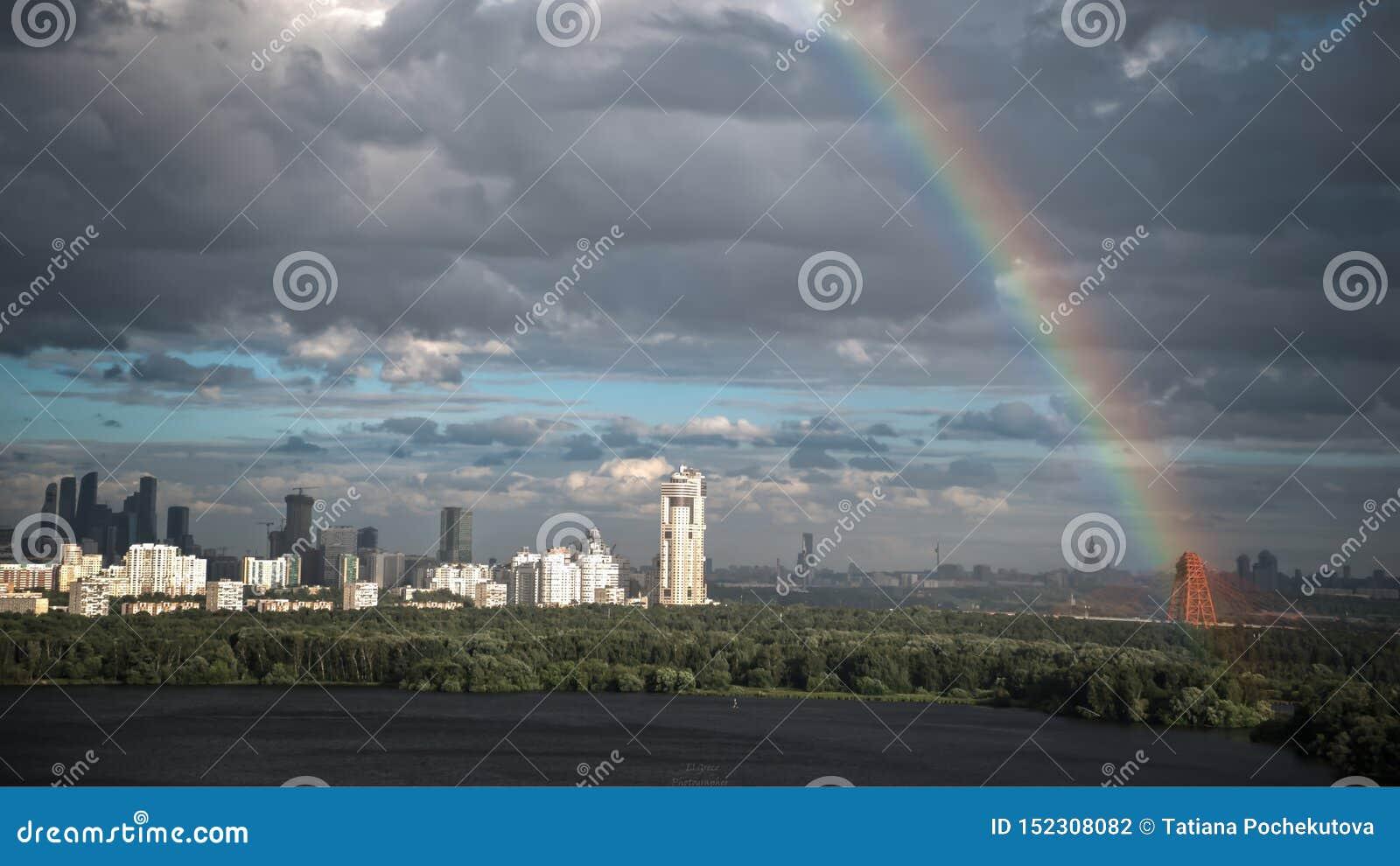 莫斯科的商业中心在7月第4