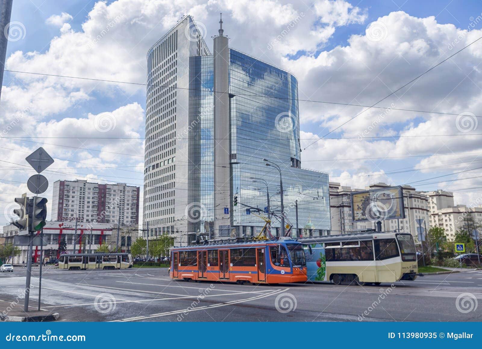 莫斯科,俄罗斯联邦- 2017年9月10日:街道视图