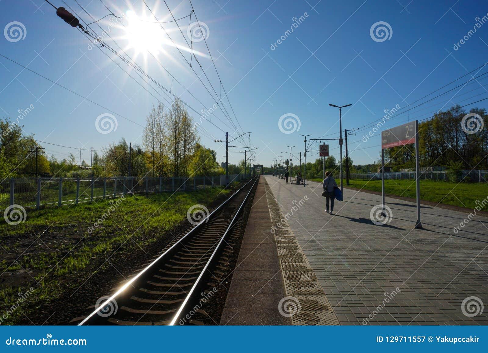 莫斯科,俄罗斯- Istra火车站