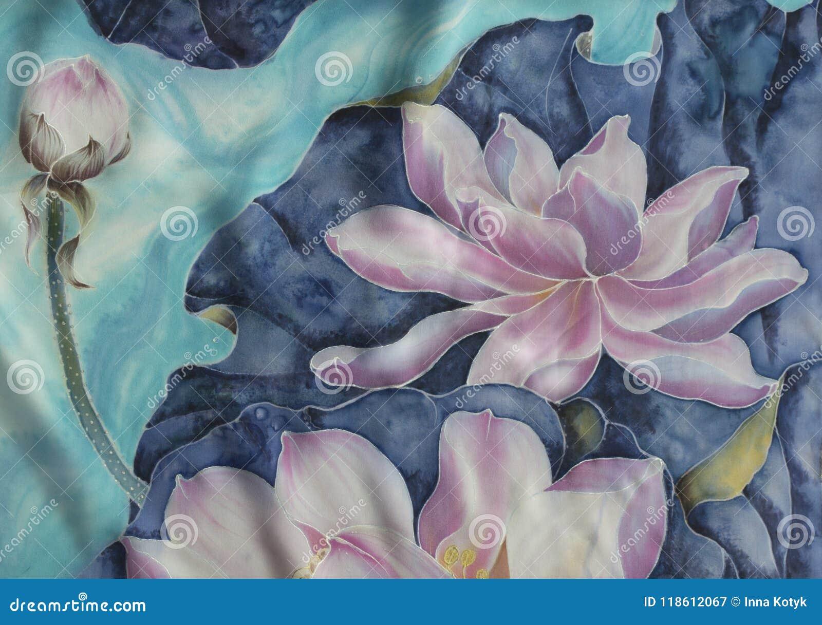 莲花 细麻花布 花,叶子,芽的装饰构成 使用铅印材料,标志,项目,网站,地图,海报,