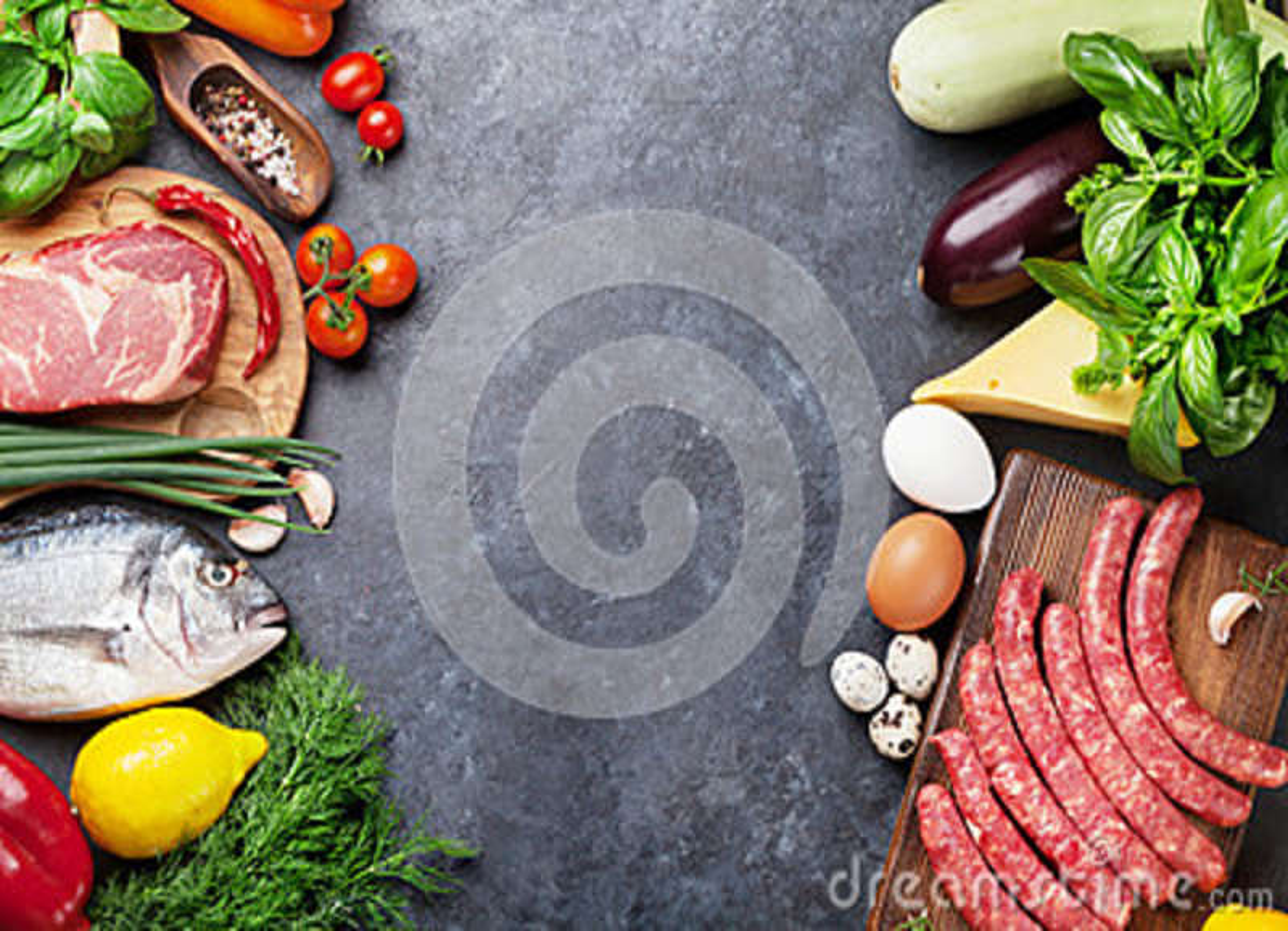 菜、鱼、肉和成份烹调