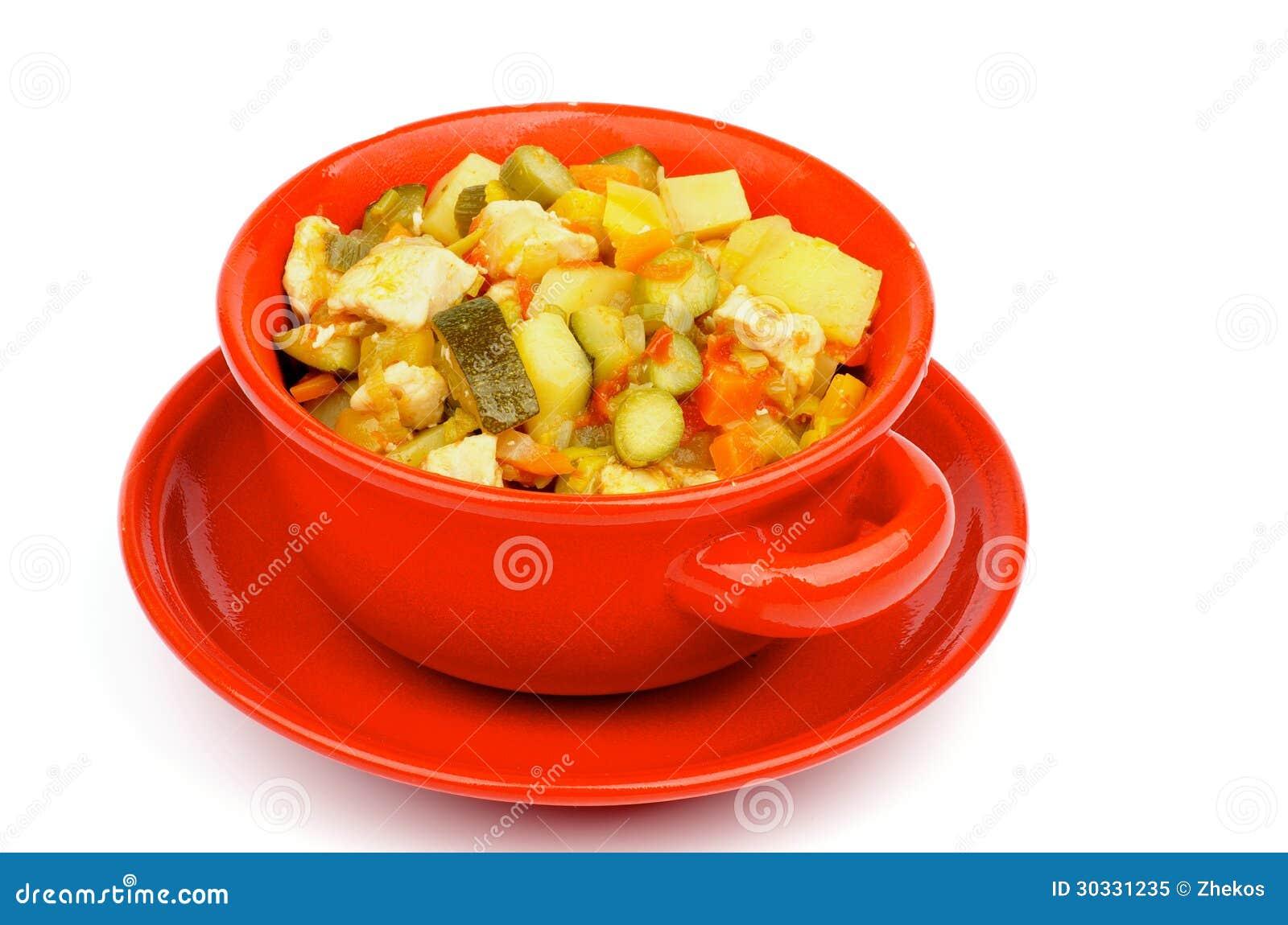 菜和鸡蔬菜炖肉