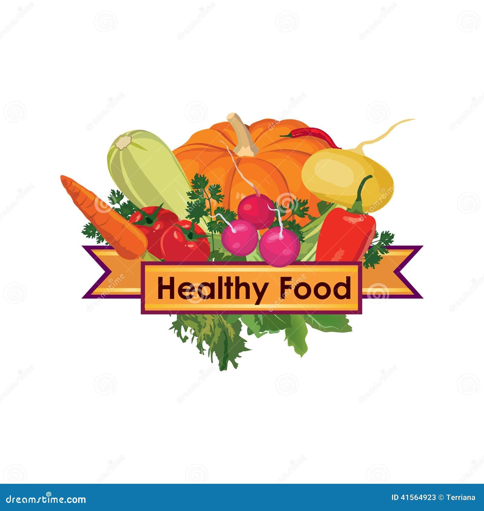 菜 健康食物菜单标志图片