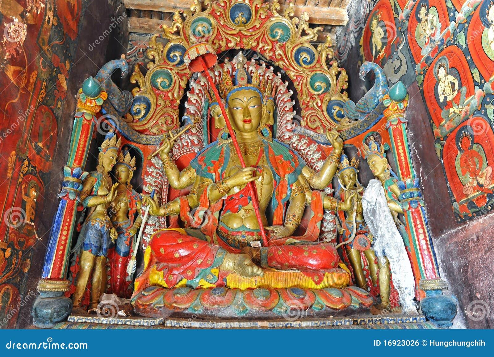菩萨修道院雕象藏语