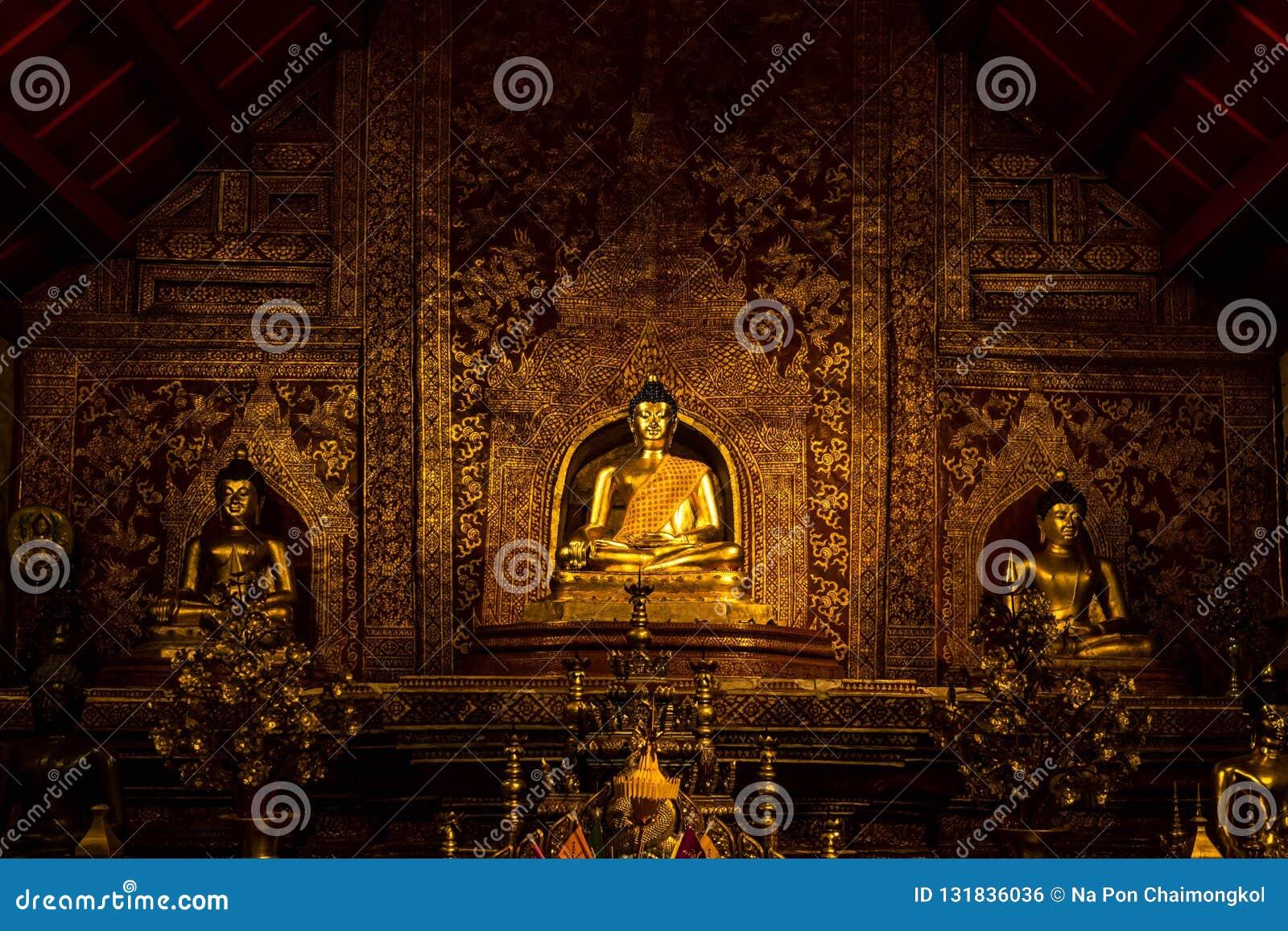 菩萨图象在Wat Phra辛哈