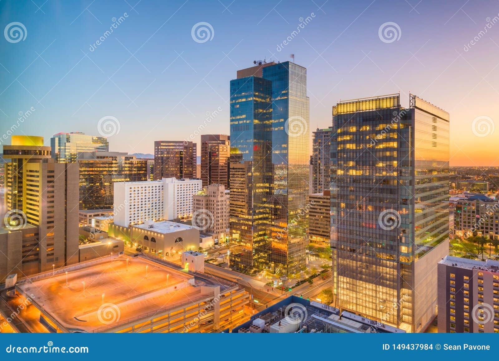 菲尼斯,亚利桑那,美国都市风景