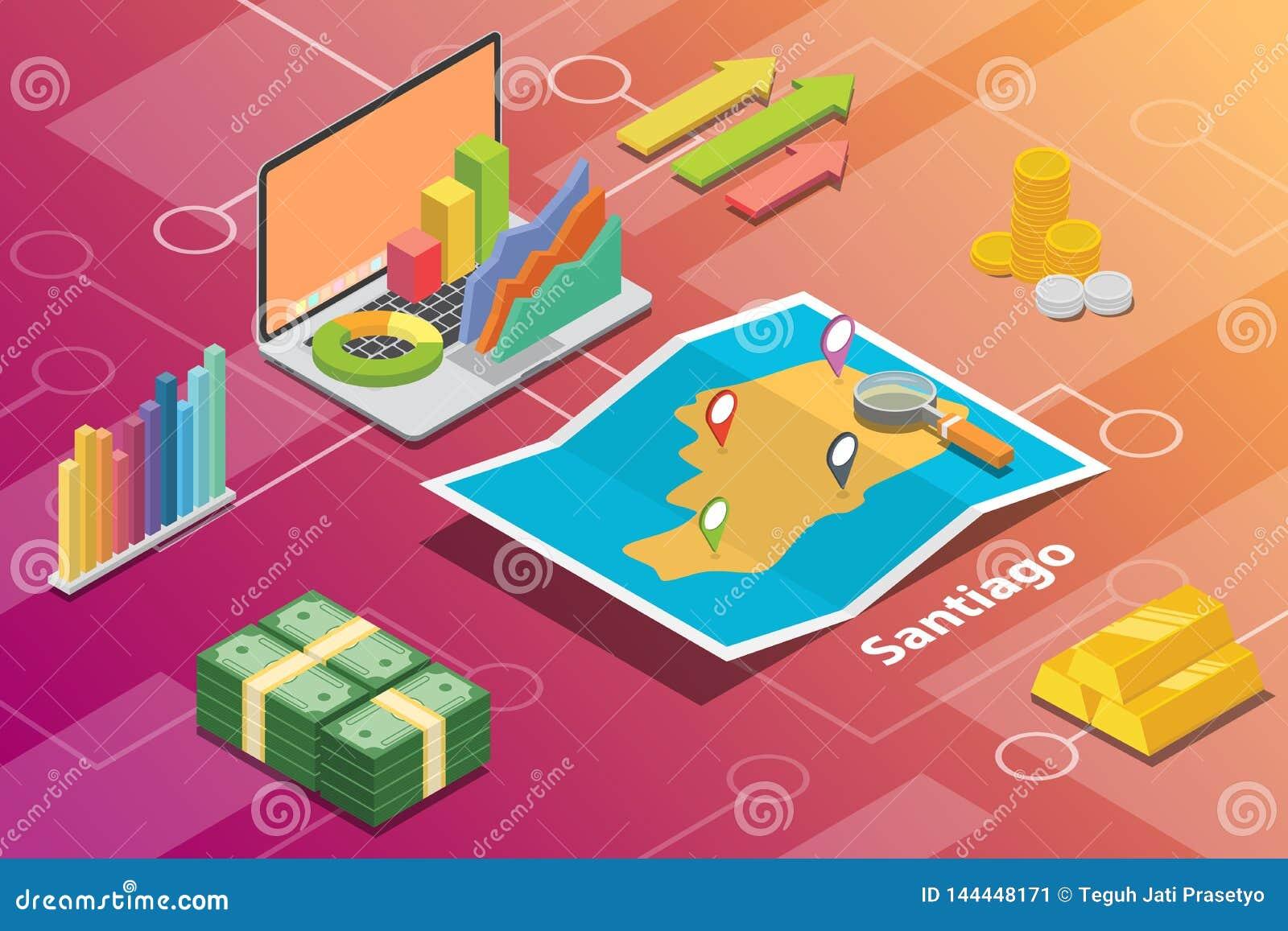 菲律宾市等量财政经济情况概念的圣地亚哥市描述的城市成长扩展-传染媒介