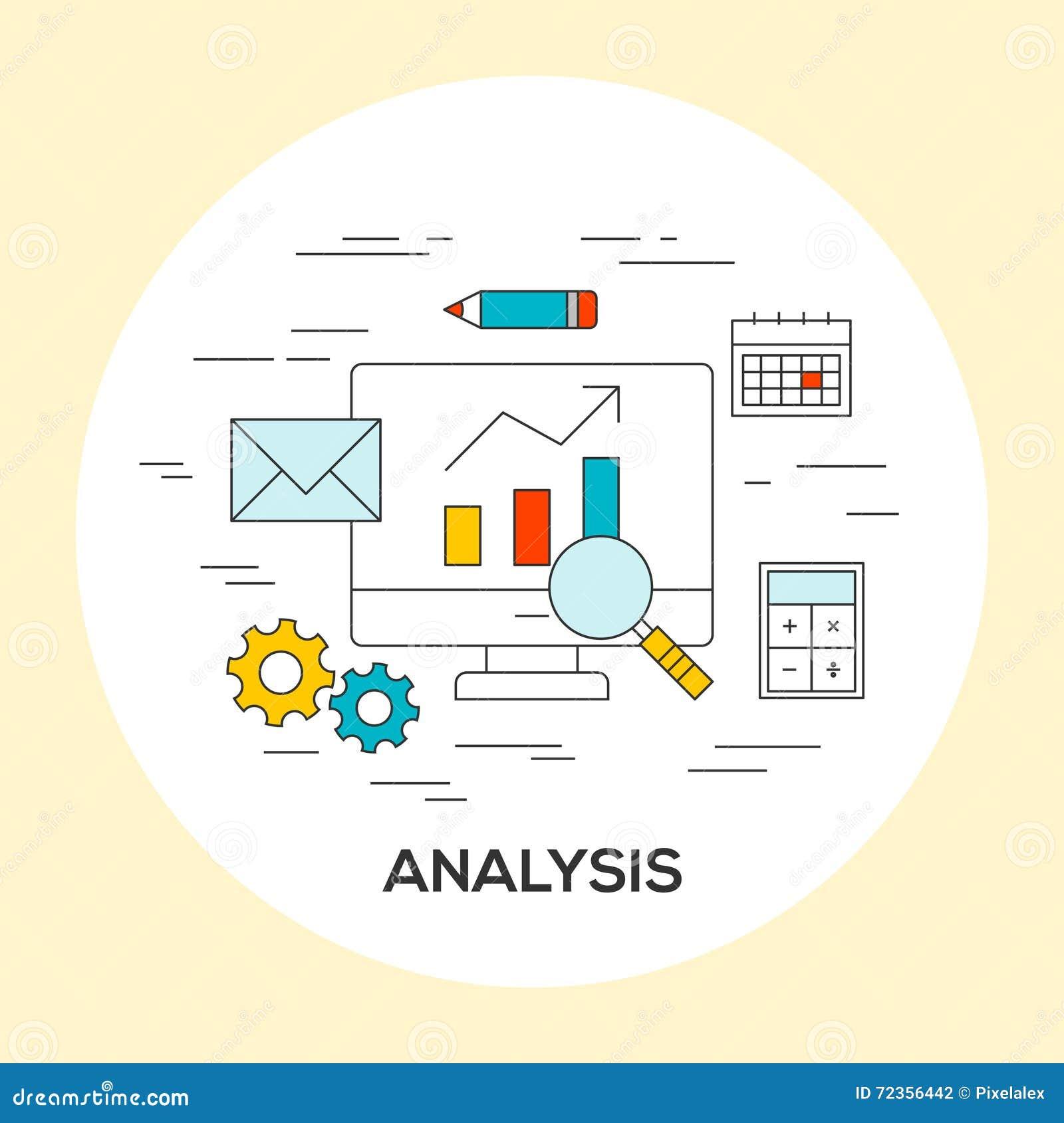 经营分析概念例证