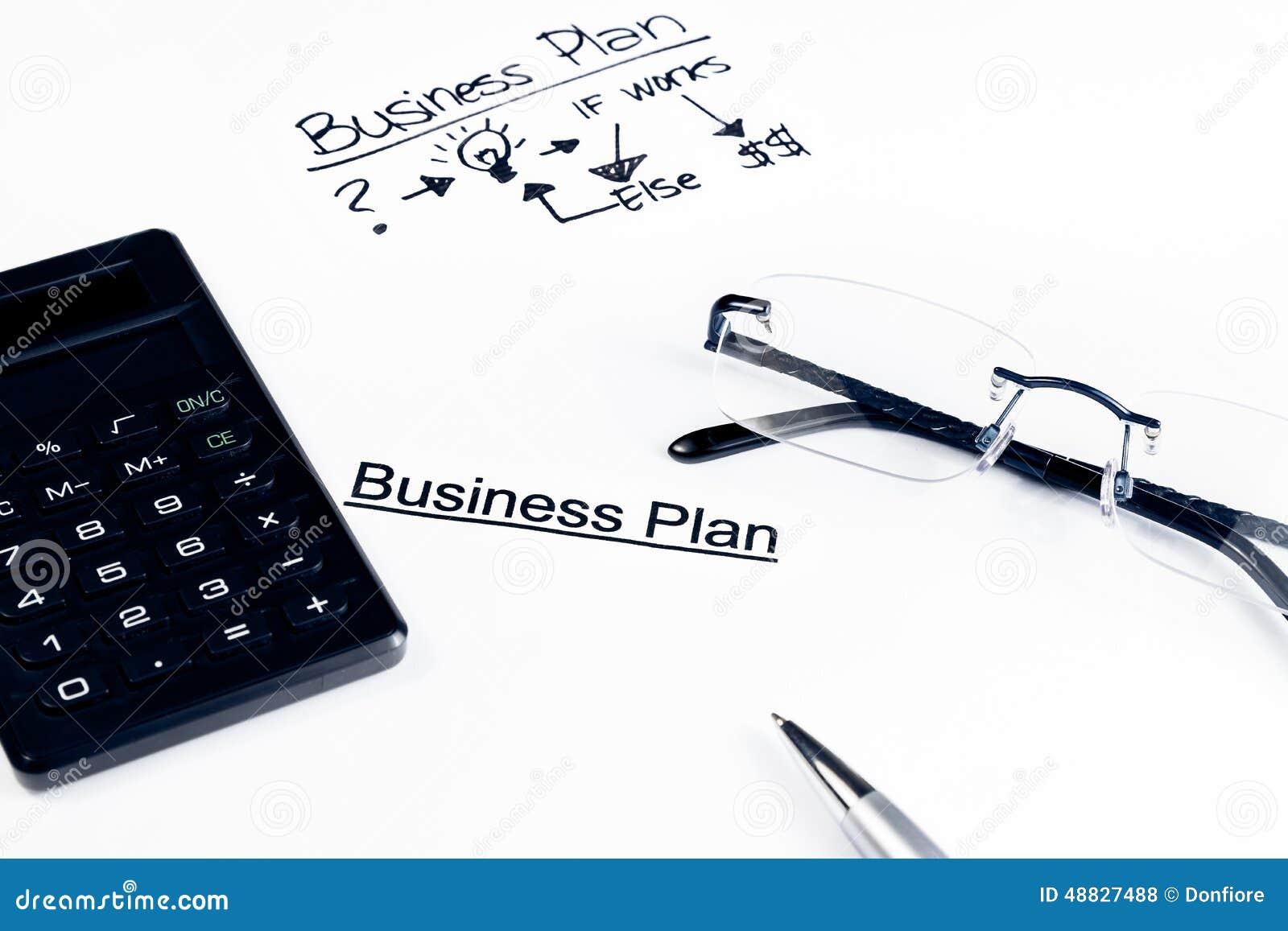 经营计划在玻璃、计算器和笔,企业概念附近措辞