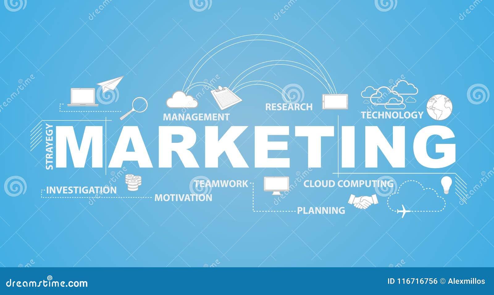 营销文本和infographic例证