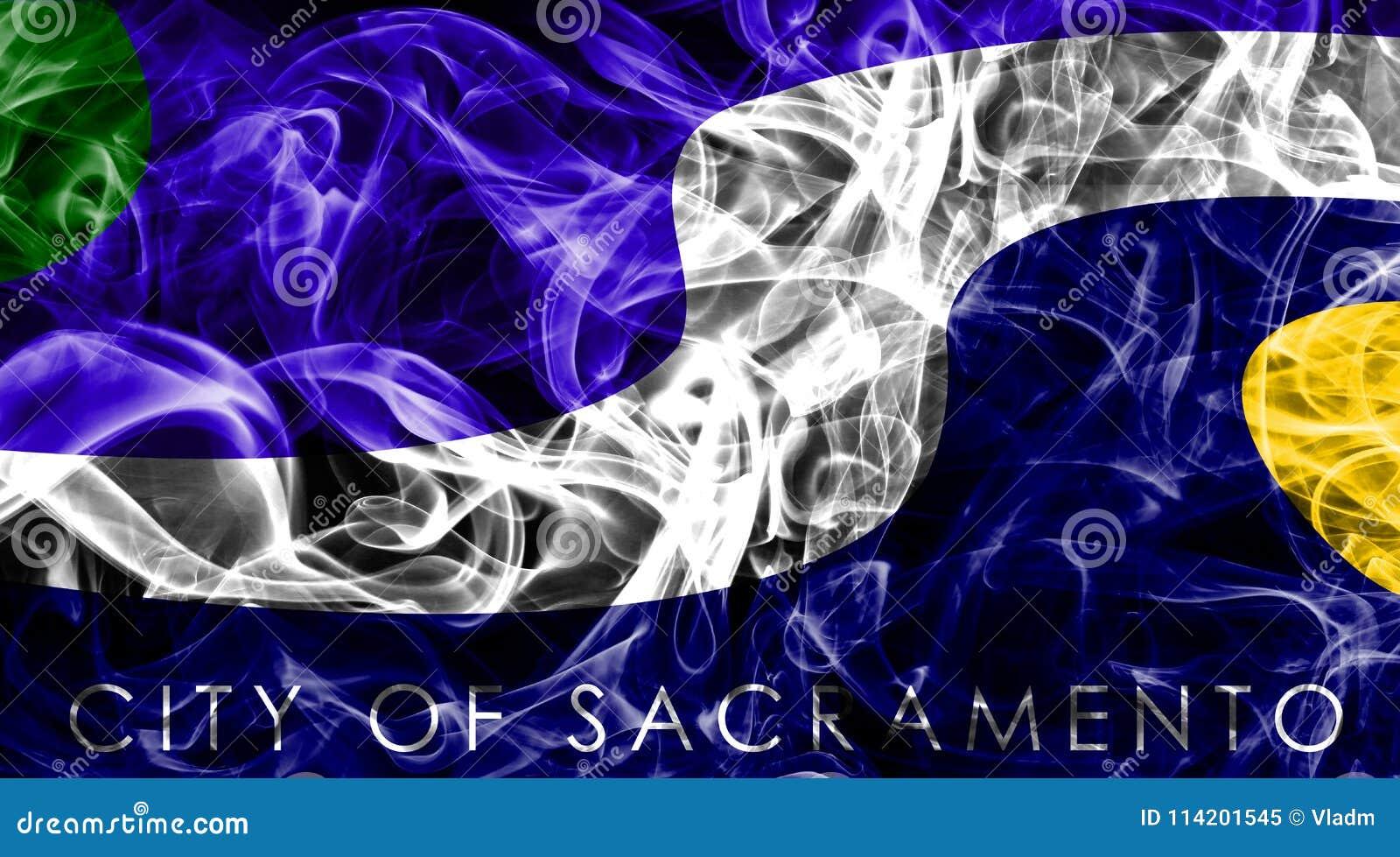 萨加门多市烟旗子,加利福尼亚状态, A美国